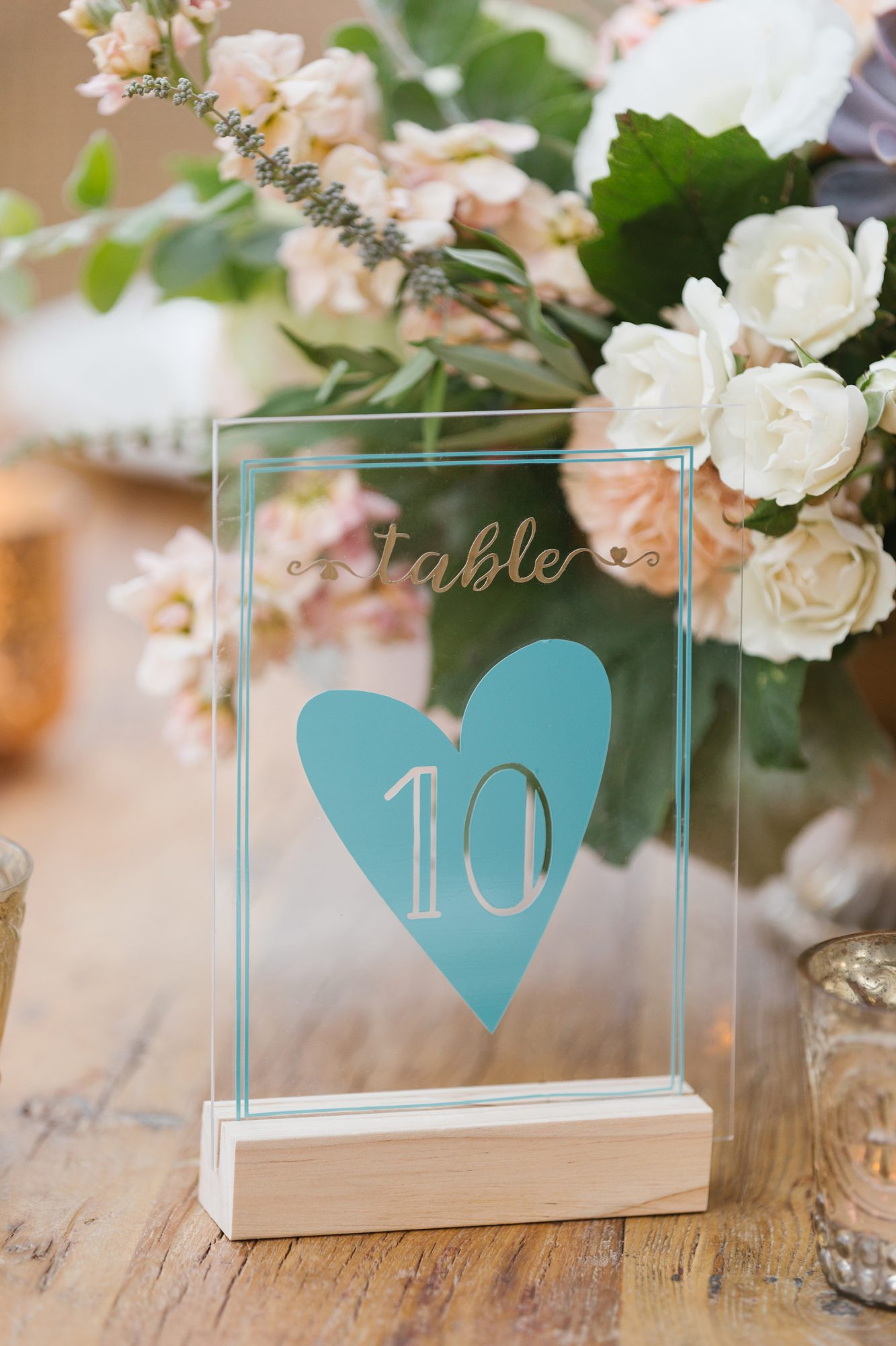 shelana kevin wedding glass table numbers