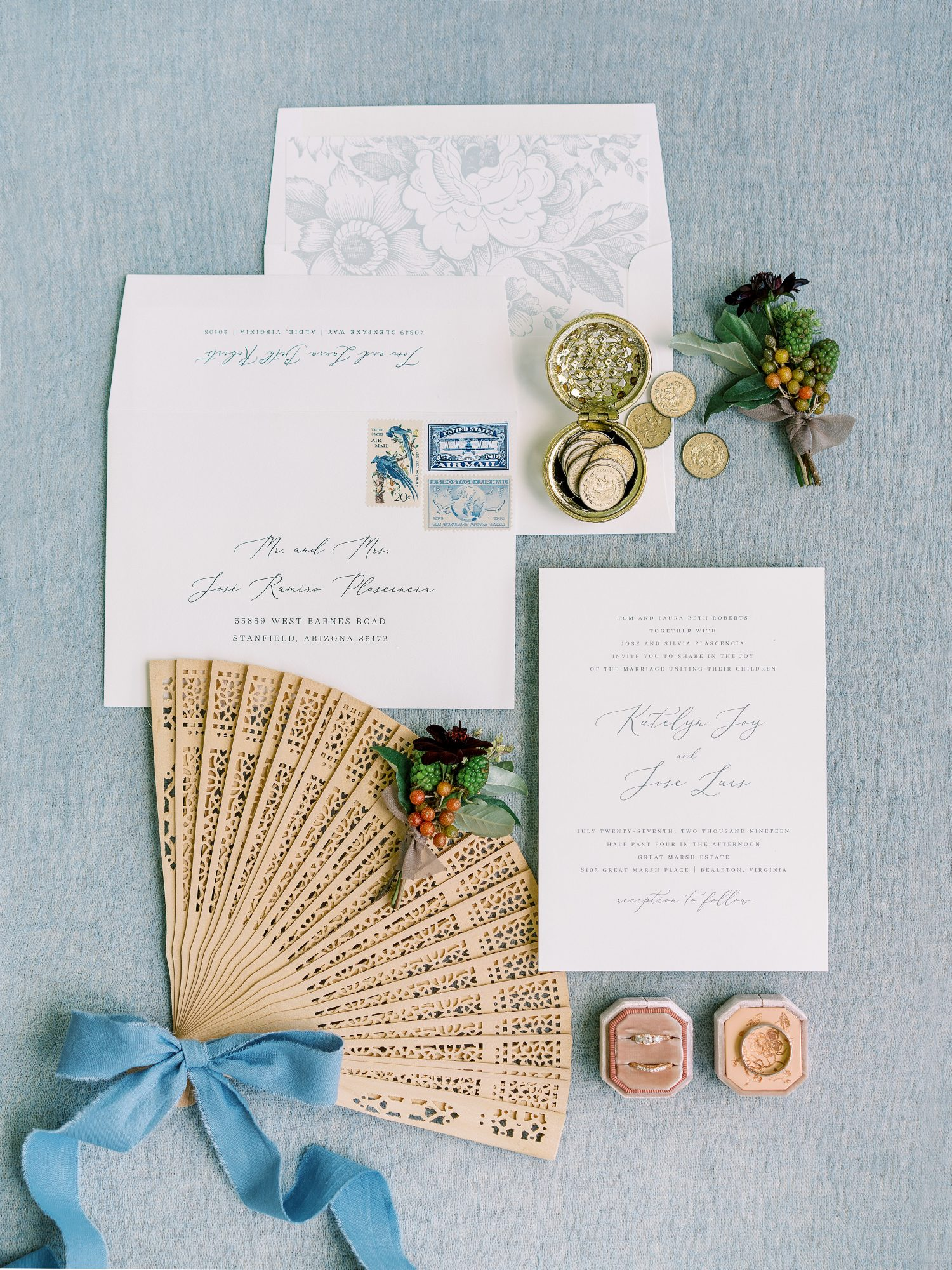 katelyn jose wedding invitation suite