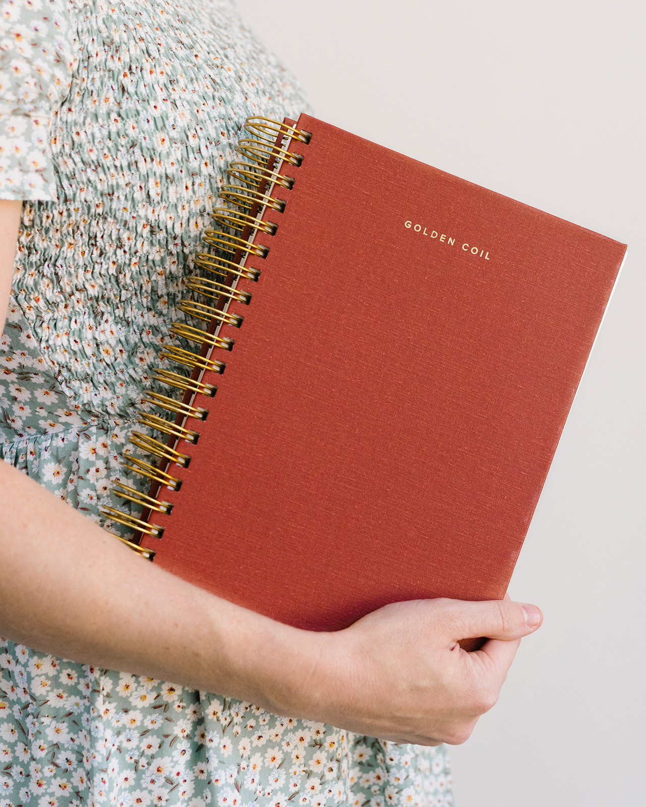 Golden Coil Customizable Planner