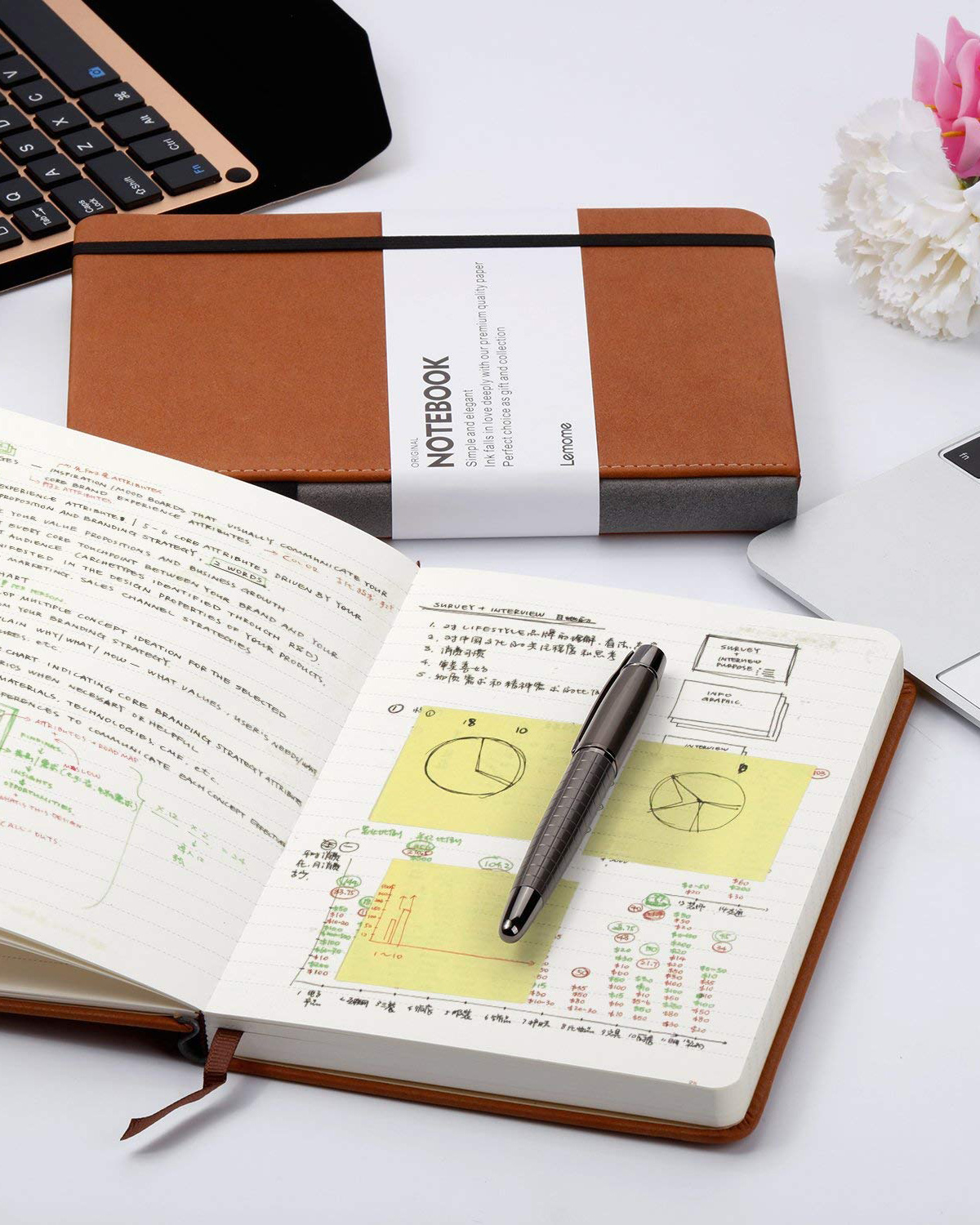 Lemome Classic Notebook with Pen Loop