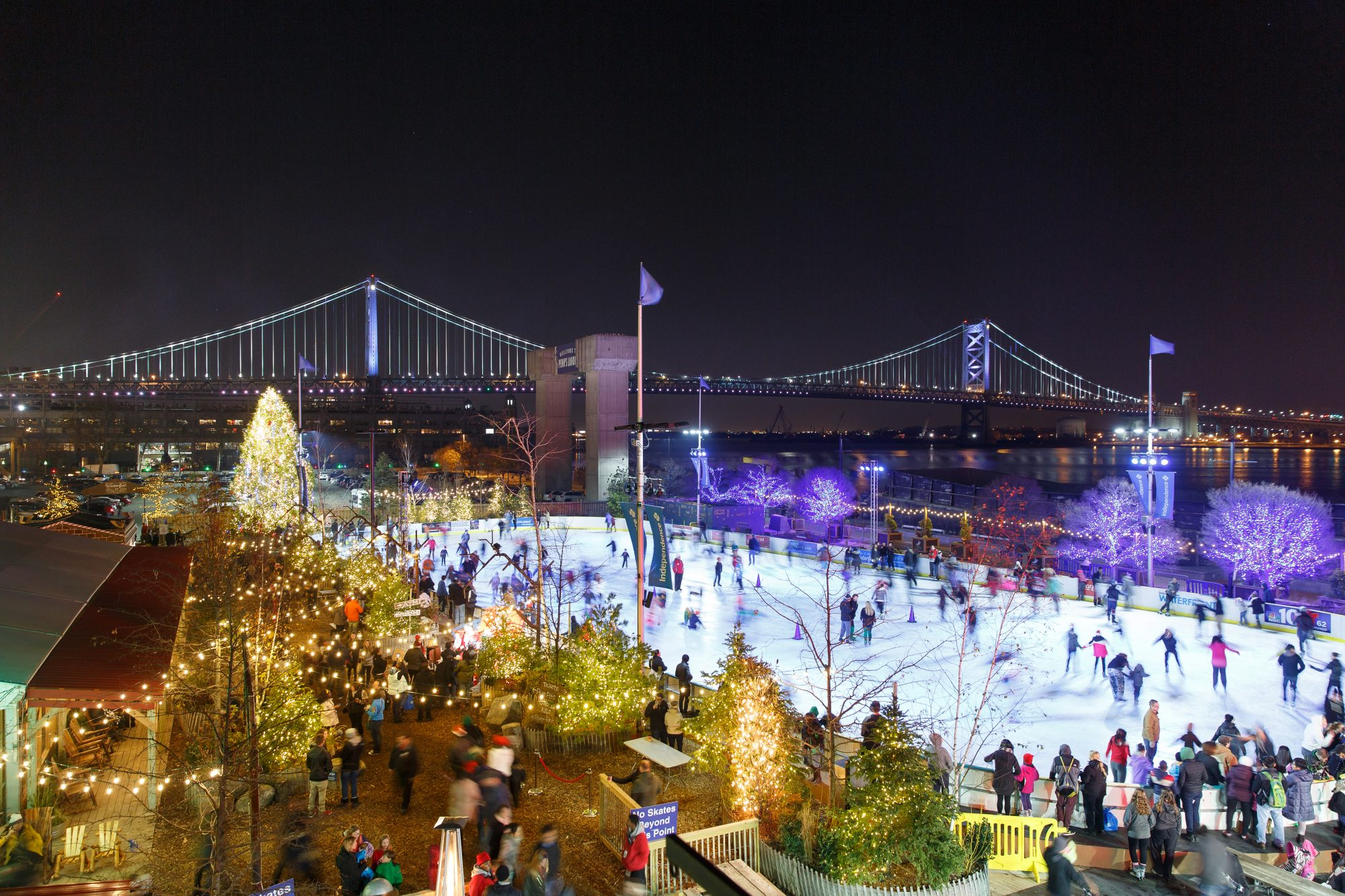 ice skating rink at Blue Cross RiverRink Winterfest