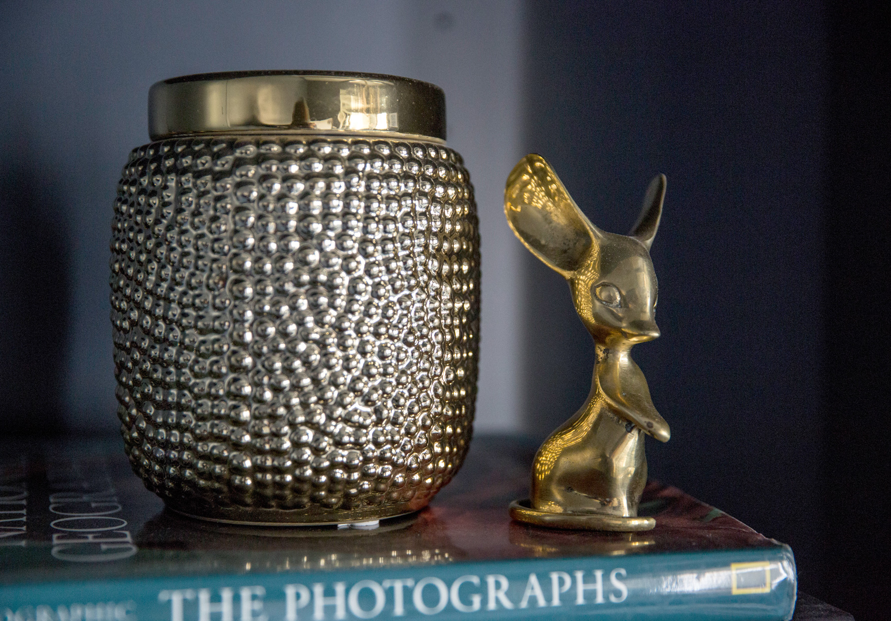 gold accent decor on book