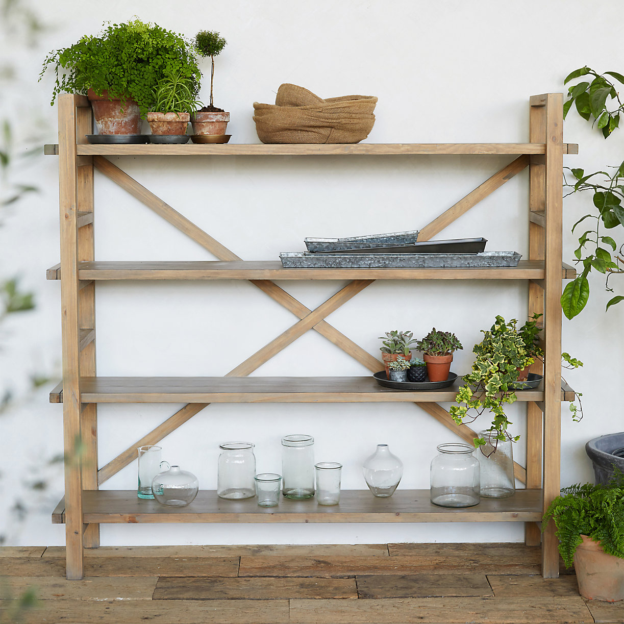 Terrain Reclaimed Pine Crossback Shelf