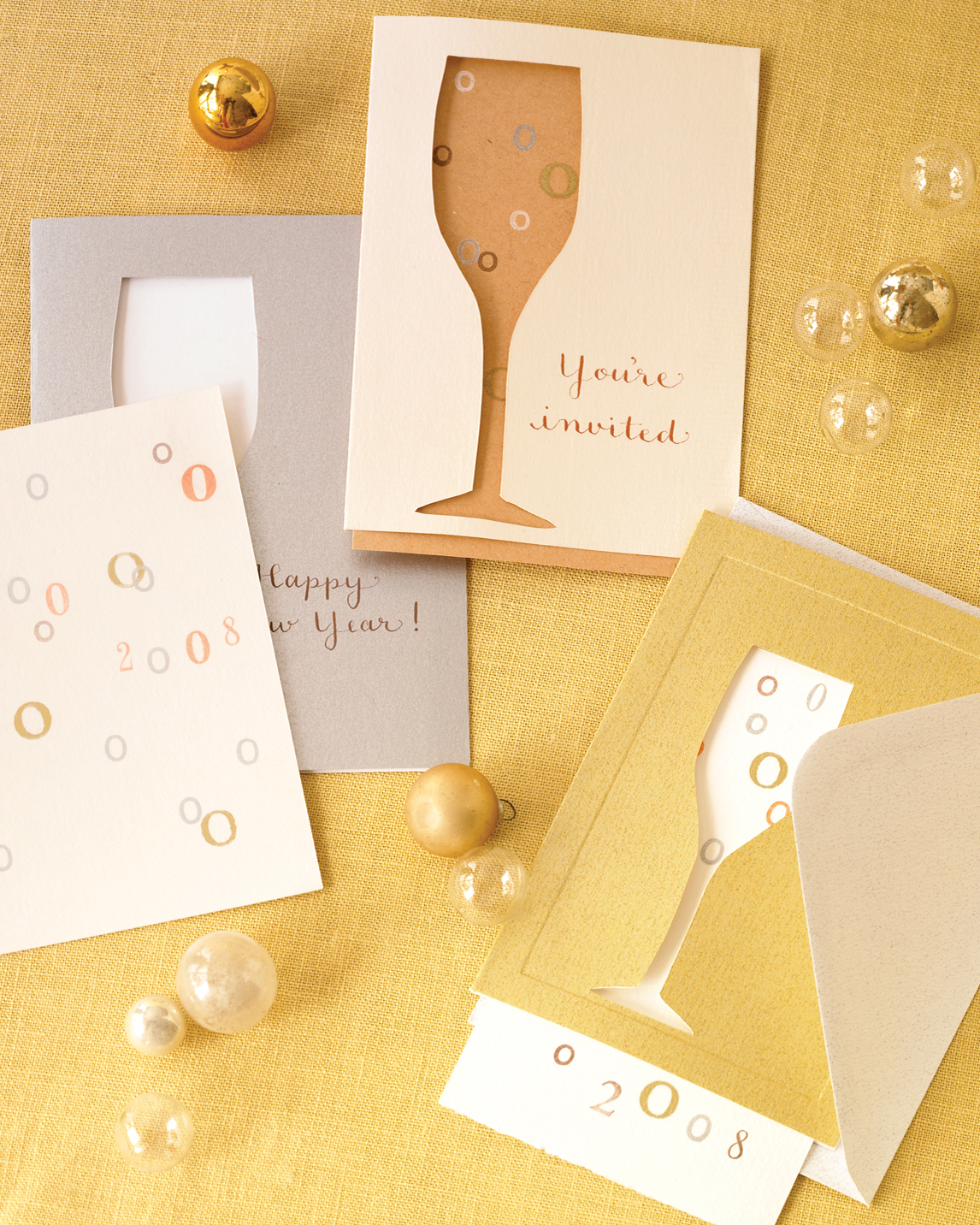 Bubbly Decorated Invitations