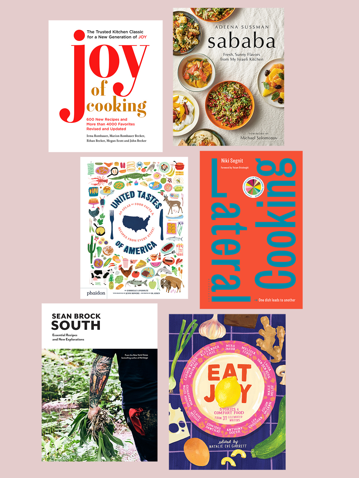 collection of food editors' favorite cookbooks
