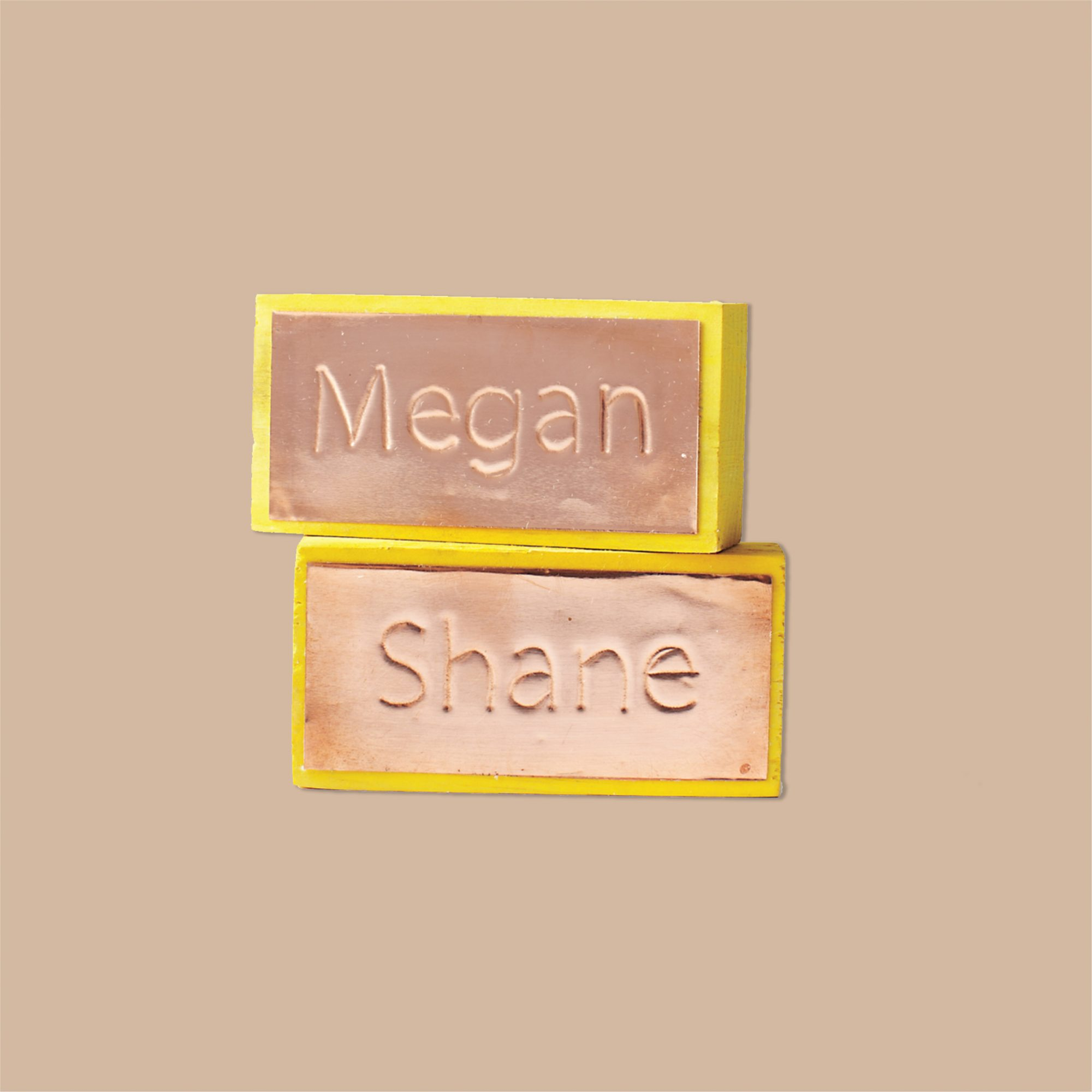 Copper Name Card