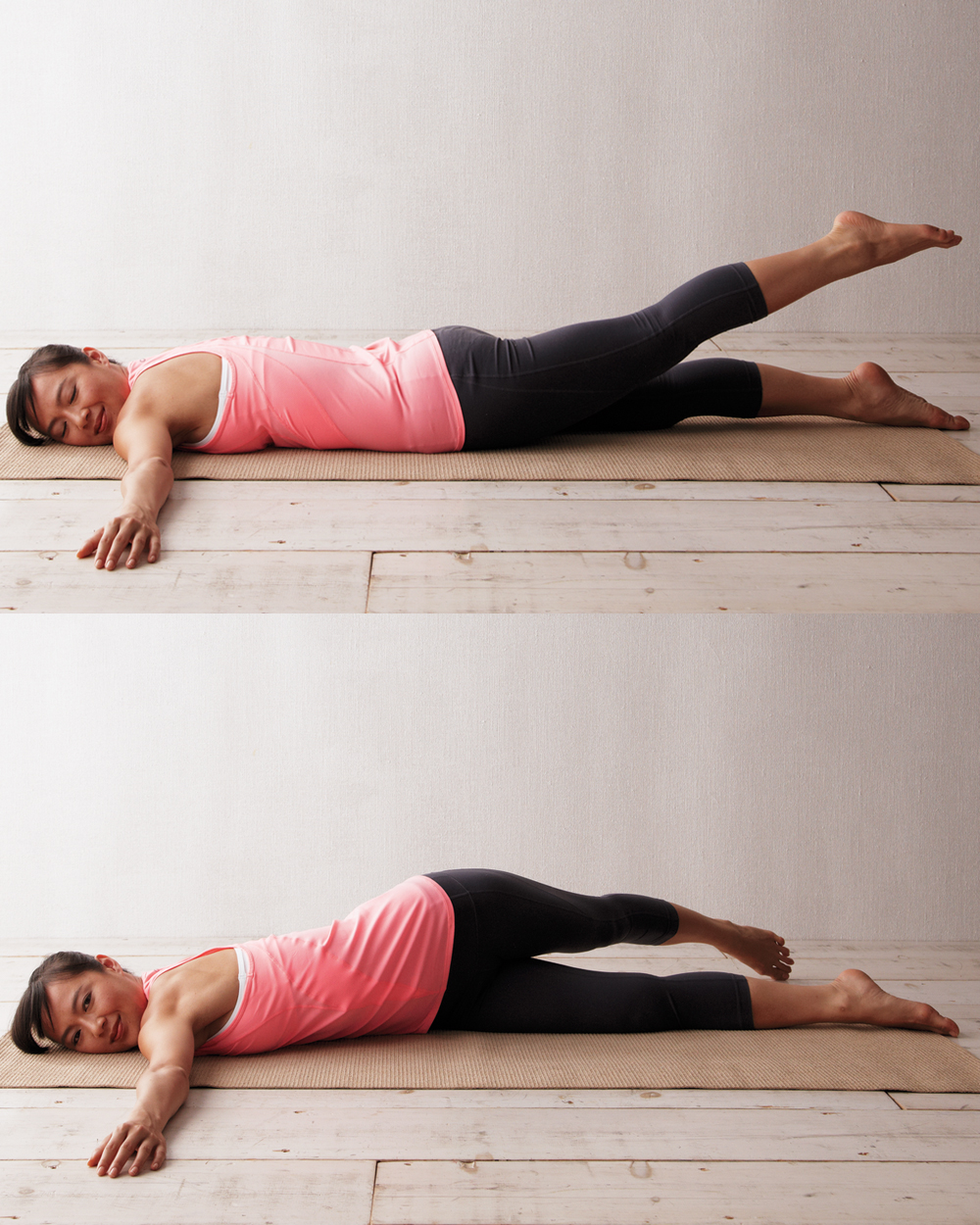 woman doing extended twist exercise