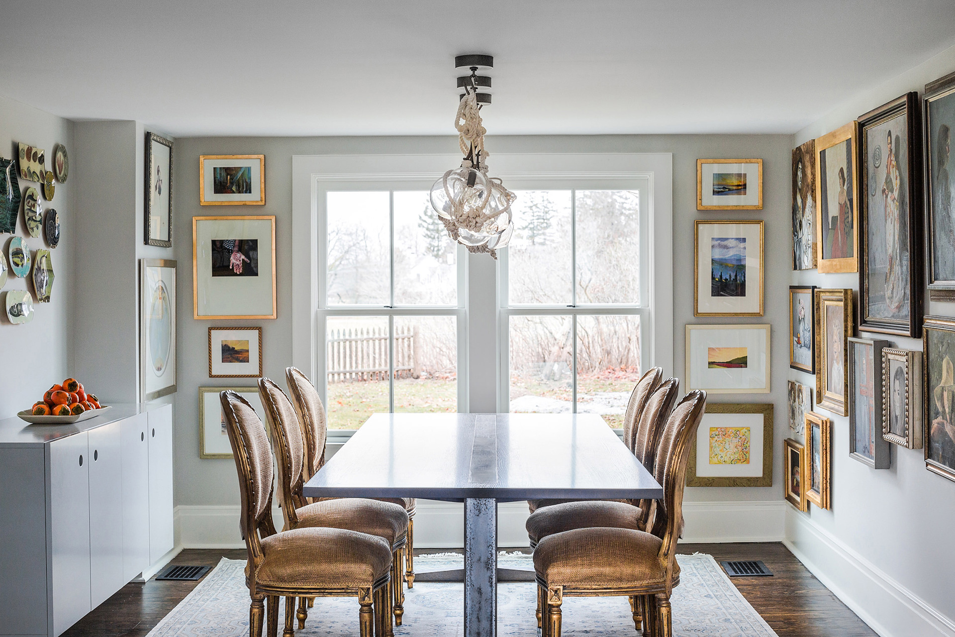 kettle cove home tour dining room table
