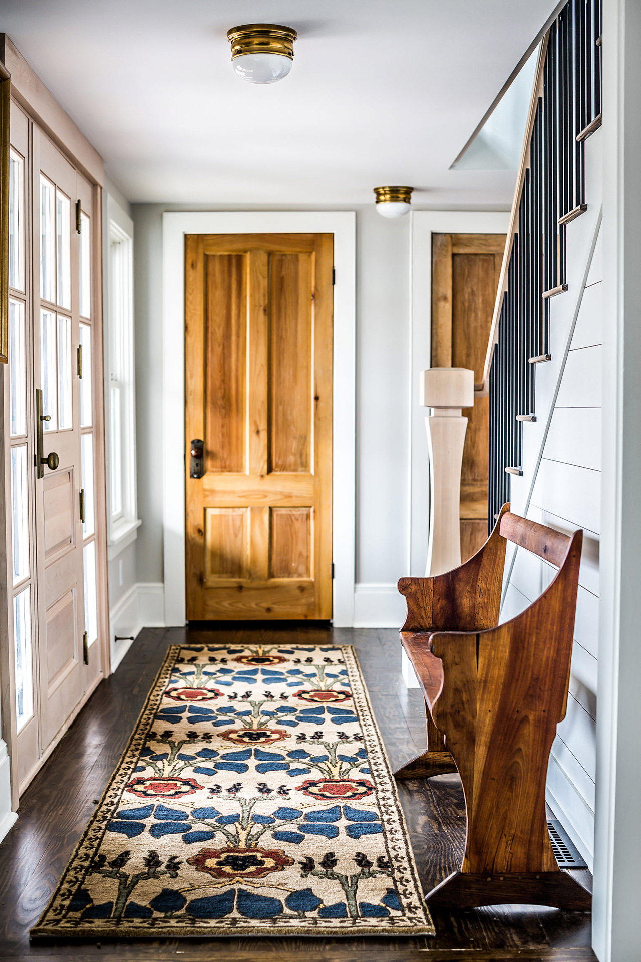 kettle cove home tour entryway stairway