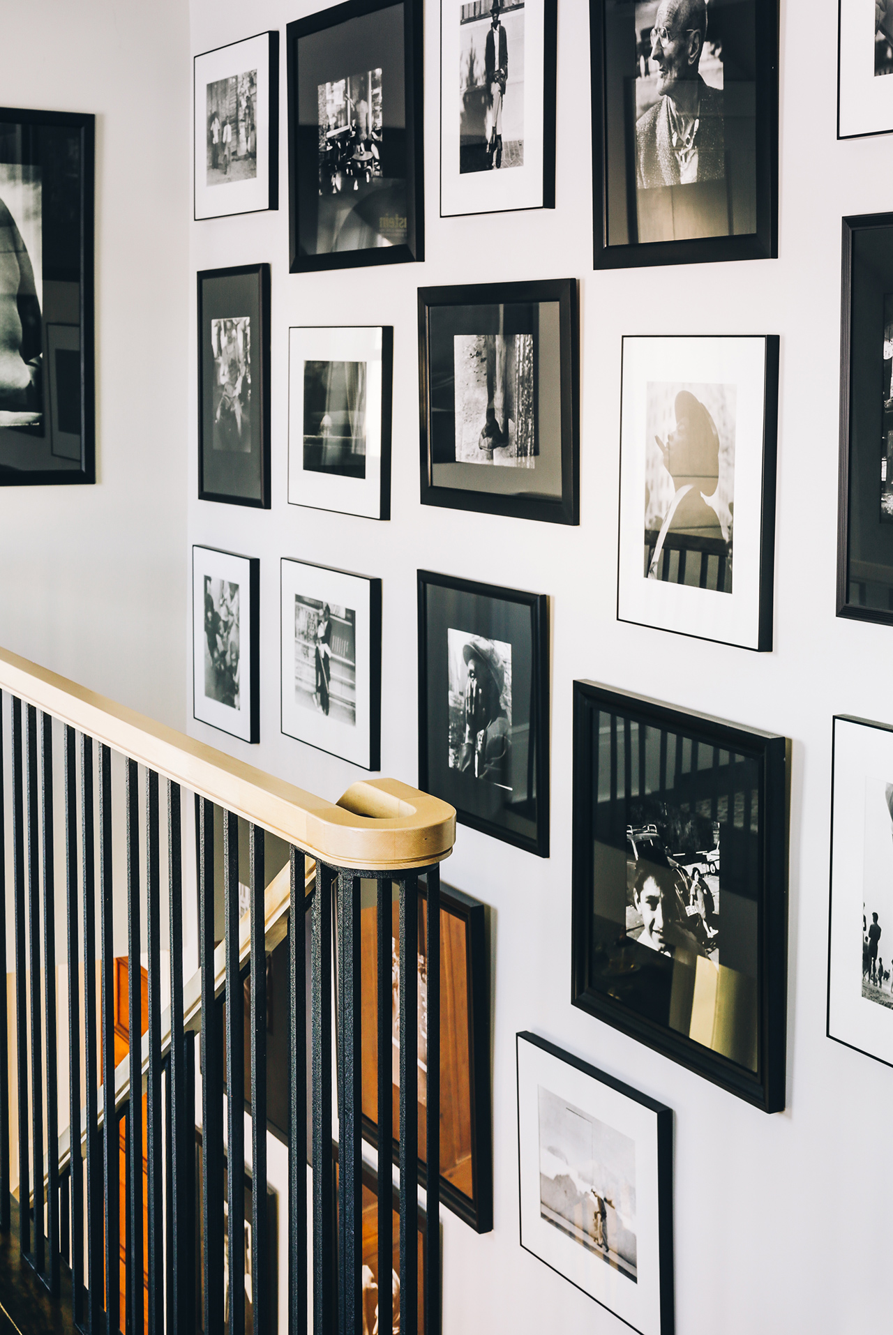 kettle cove home tour staircase photo gallery wall