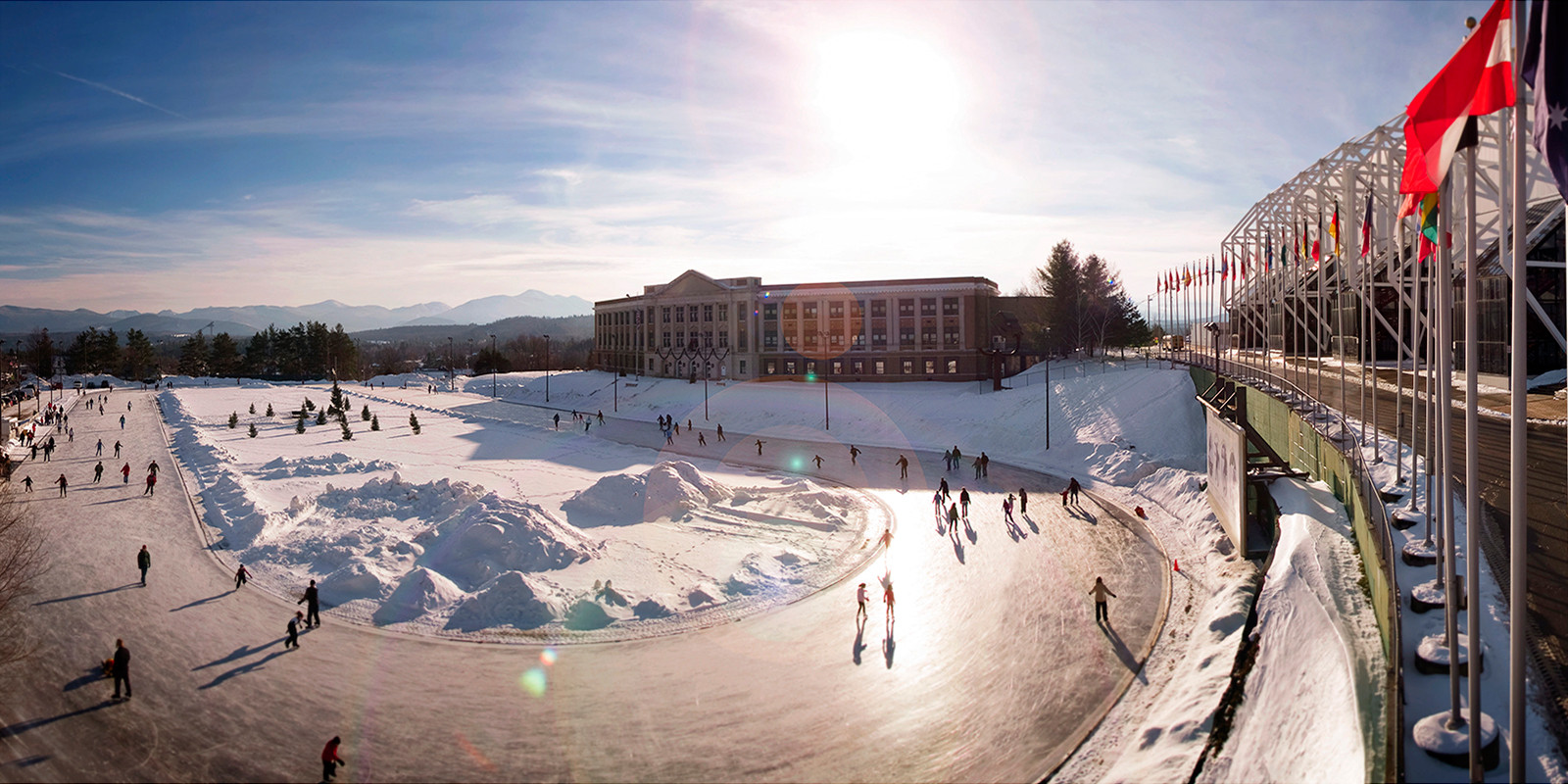 skating on the oval at Lake Placid