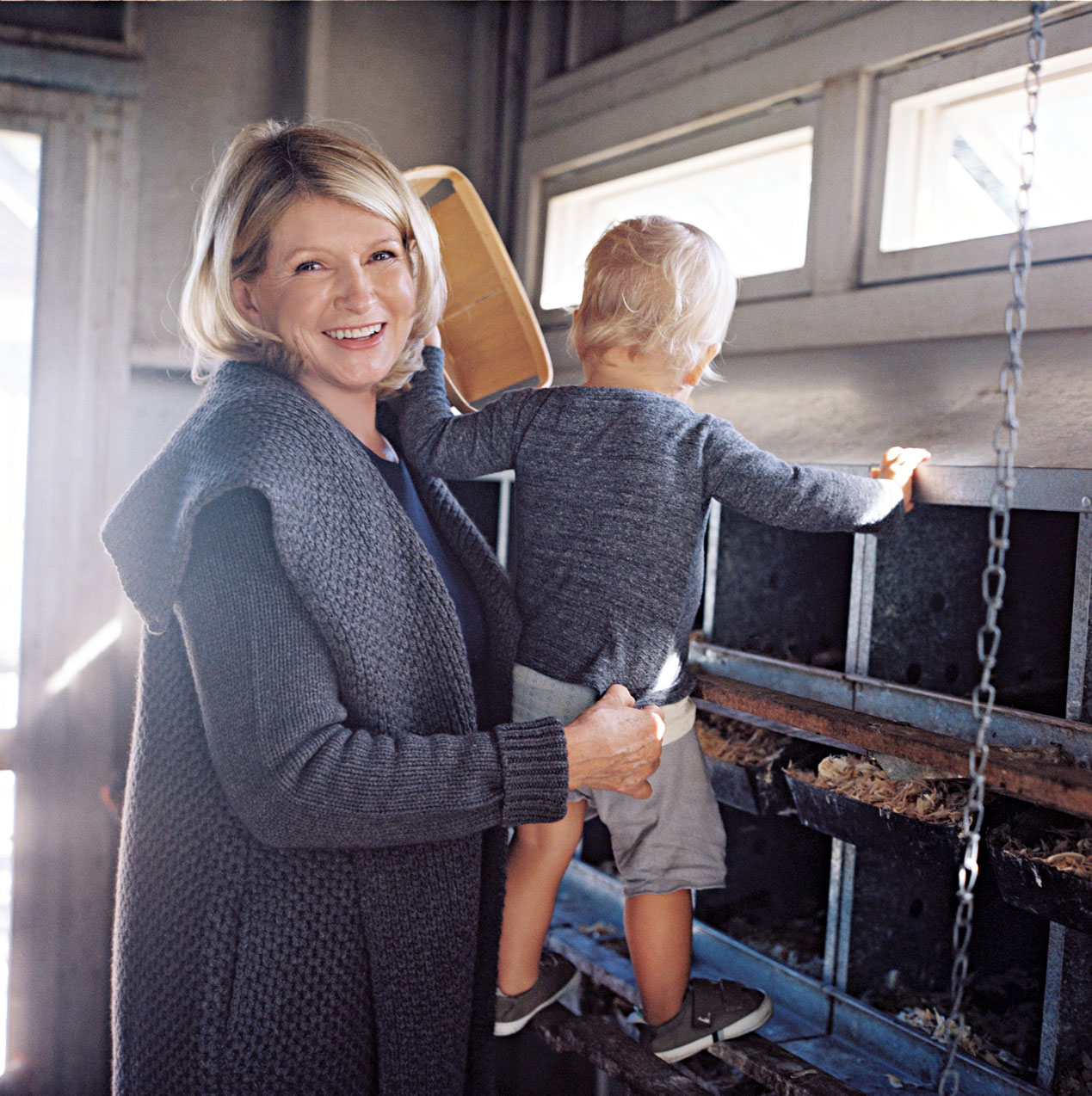 """When she's not busy organizing parties, decorating, or crafting gifts, Martha said she'll enjoy the brisk winter weather with her family, friends, and guests. """"During the way, we try to spend time outdoors, collecting eggs, hiking, and riding horses,"""" she wrote in her Living column in December 2016. """"I try to have a big open house to celebrate with my family, friends, and neighbors. This is not so different from what my parents did in our family home in Nutley, New Jersey, and what I hope my daughter will do as her two children grow and thrive."""""""