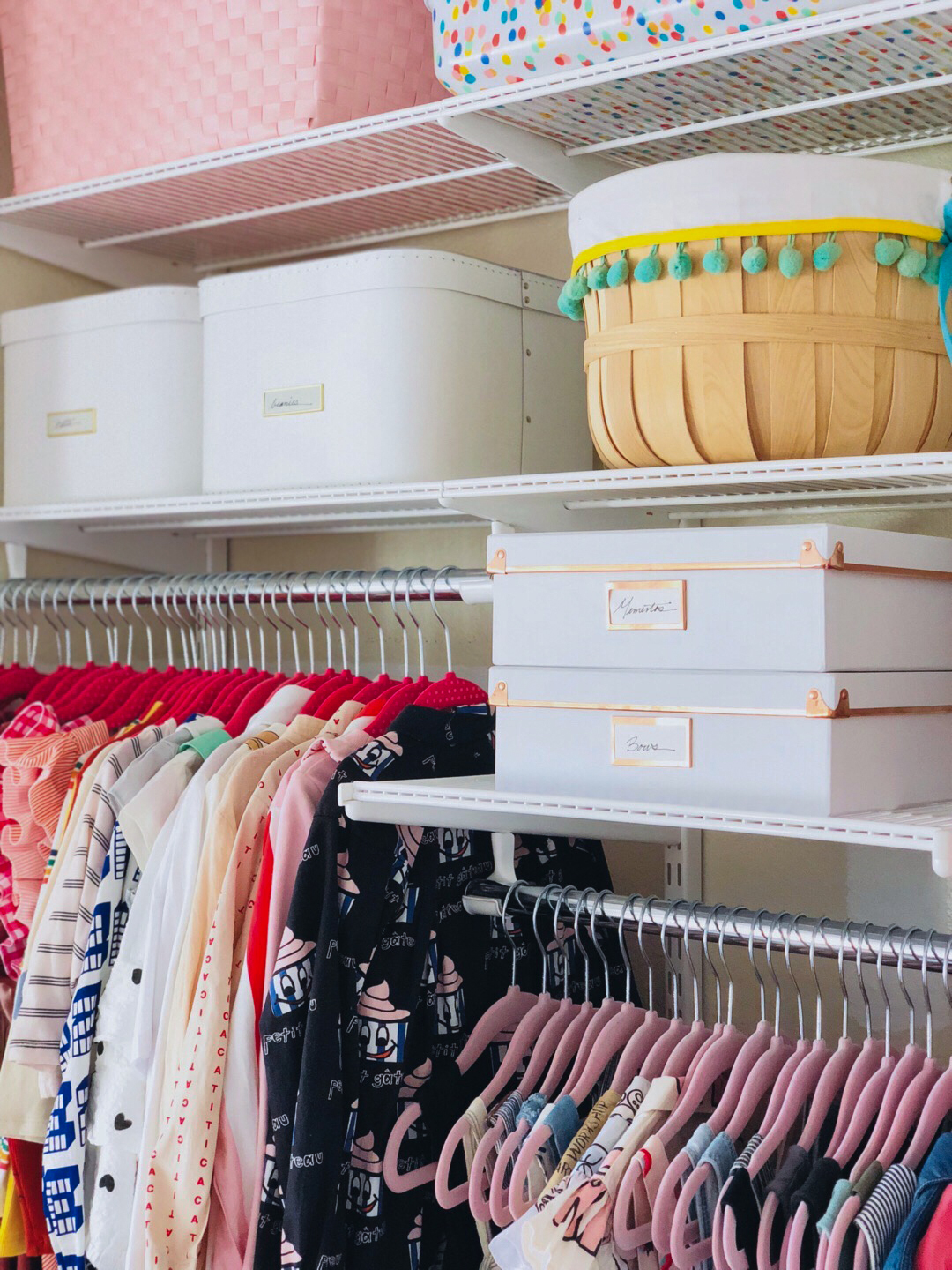 closet organization small storage boxes