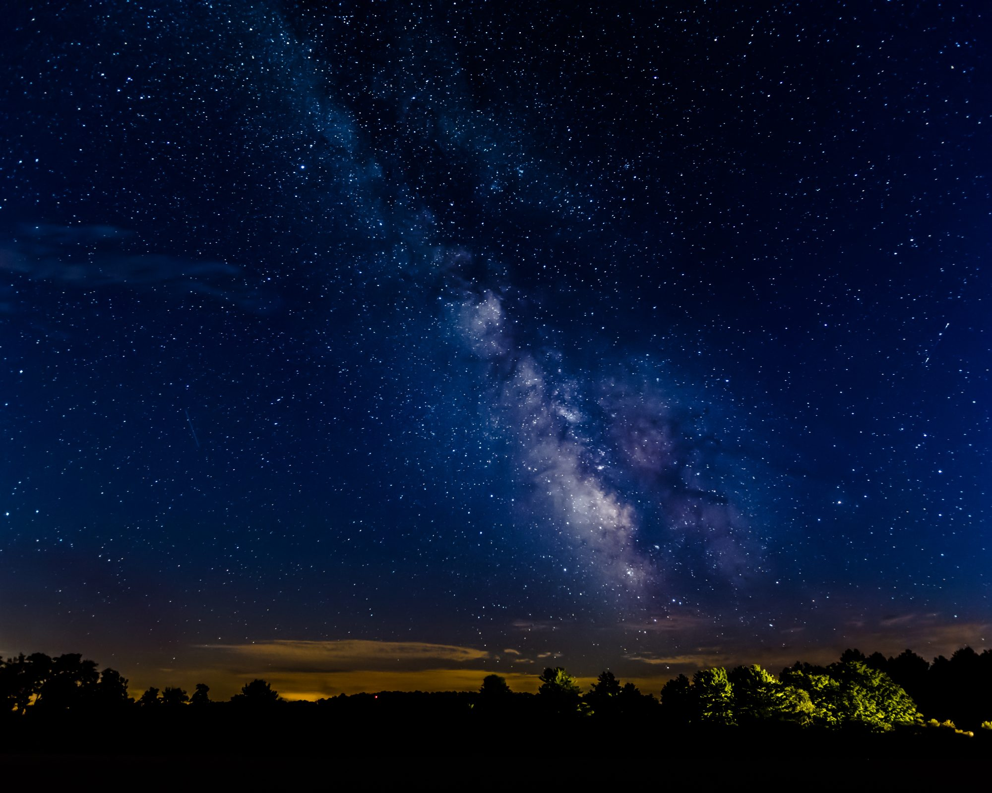 night stargazing view at cherry springs state park