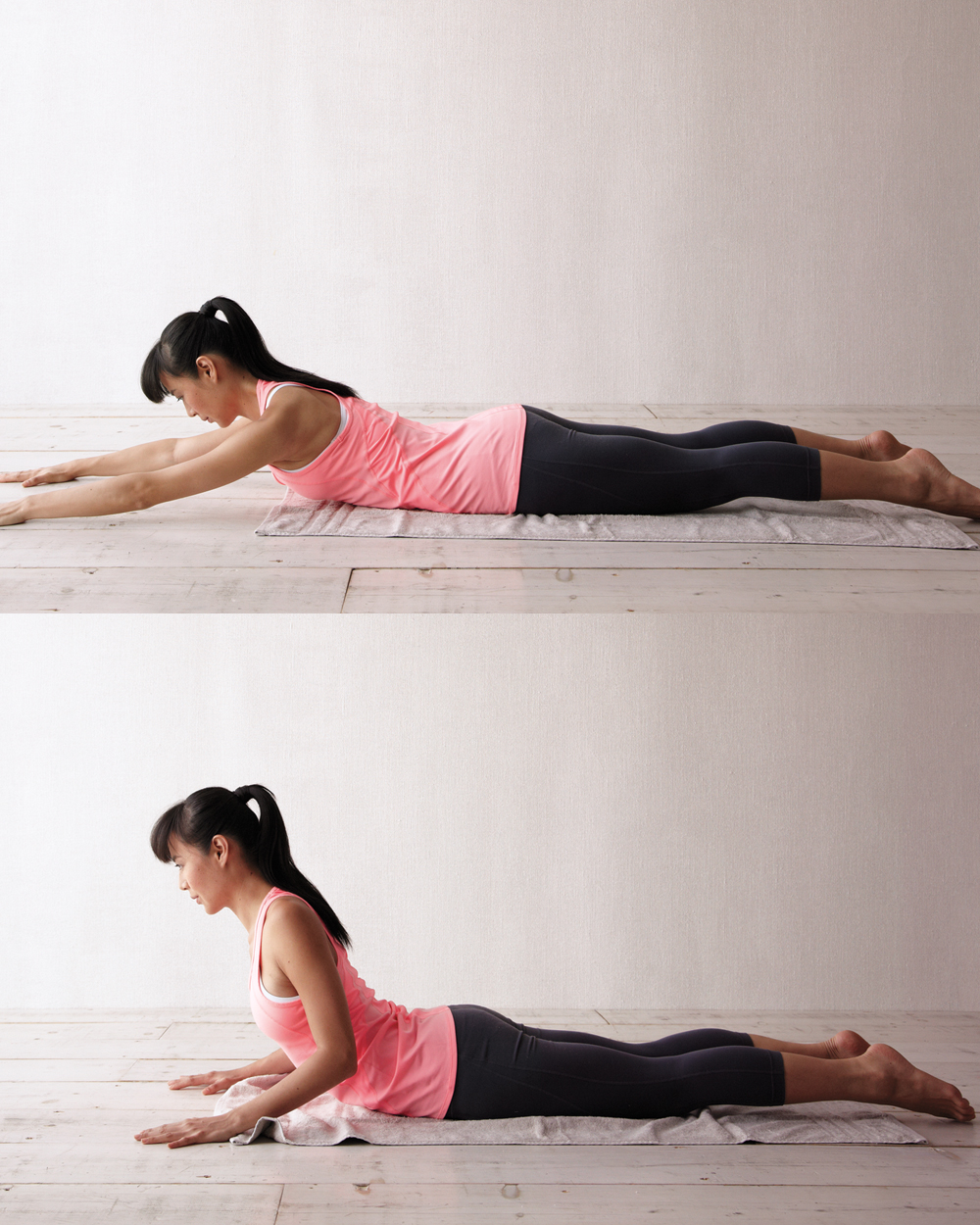 woman doing sliding chest extension exercise