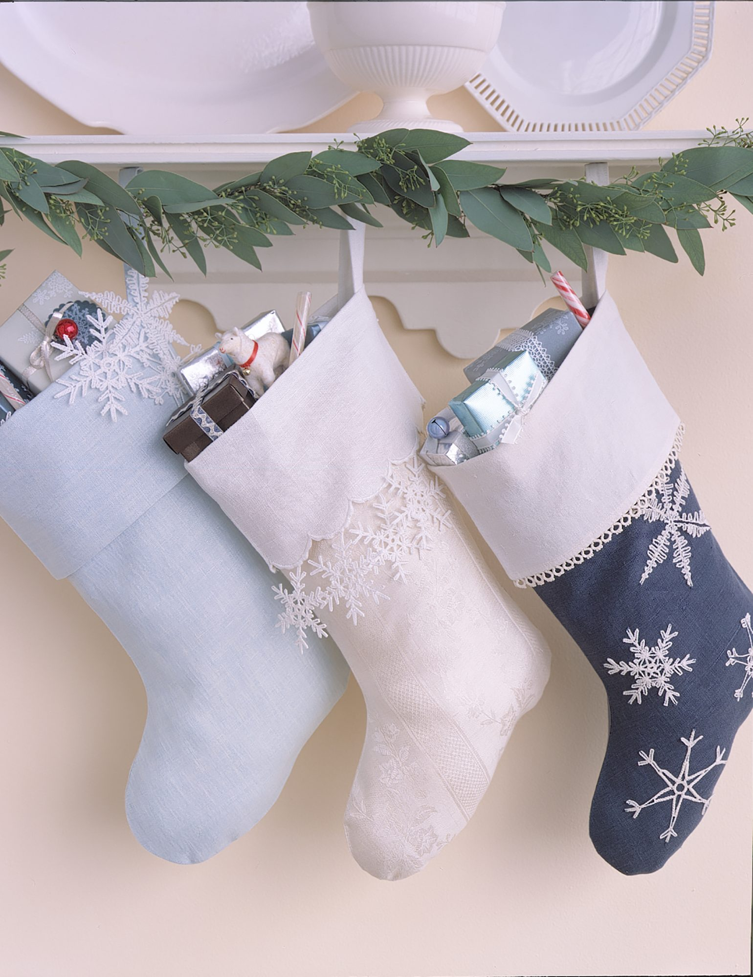 Stockings on a Mantel