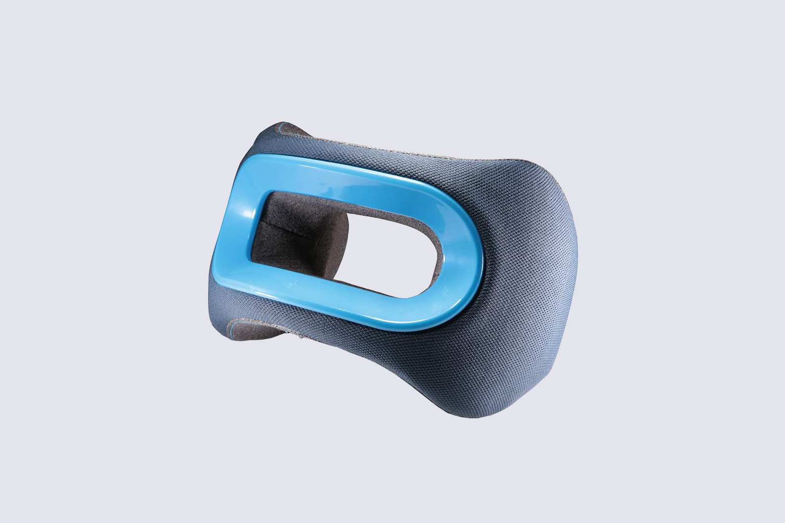 blue and navy travel pillow