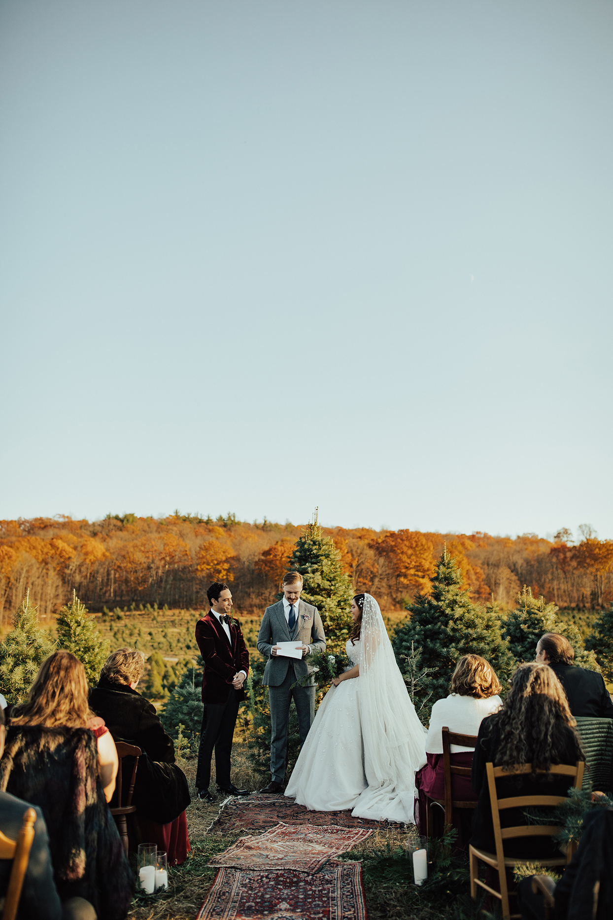noelle danny wedding ceremony couple and officiant