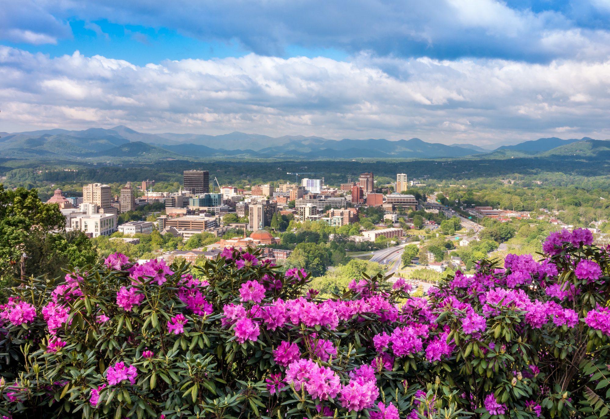 view of downtown asheville, north carolina