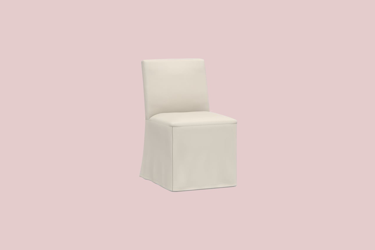 "Pottery Barn ""Classic Dining Side Chair Long Slipcover"" Slipcover"