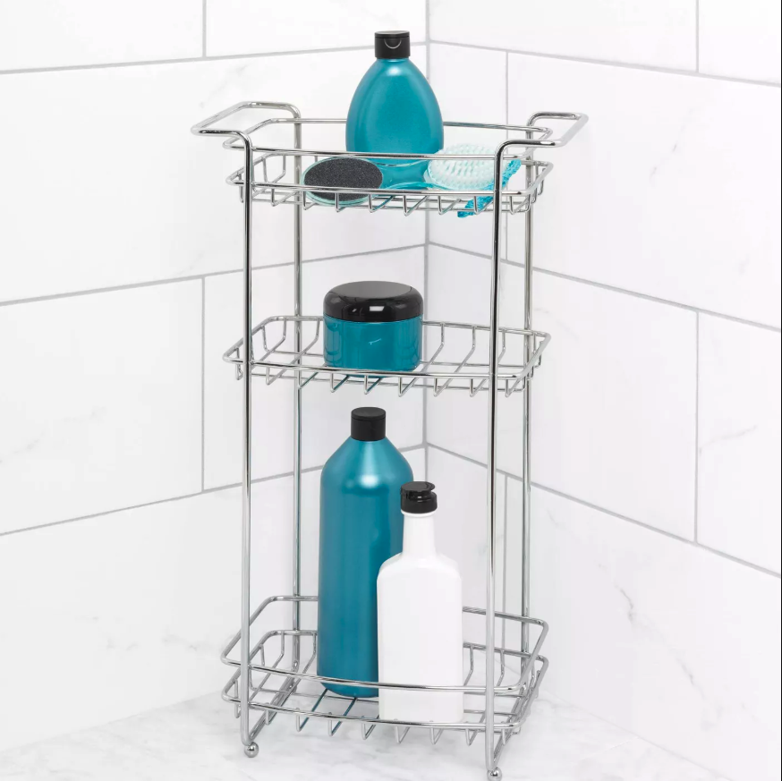 chrome shower cart