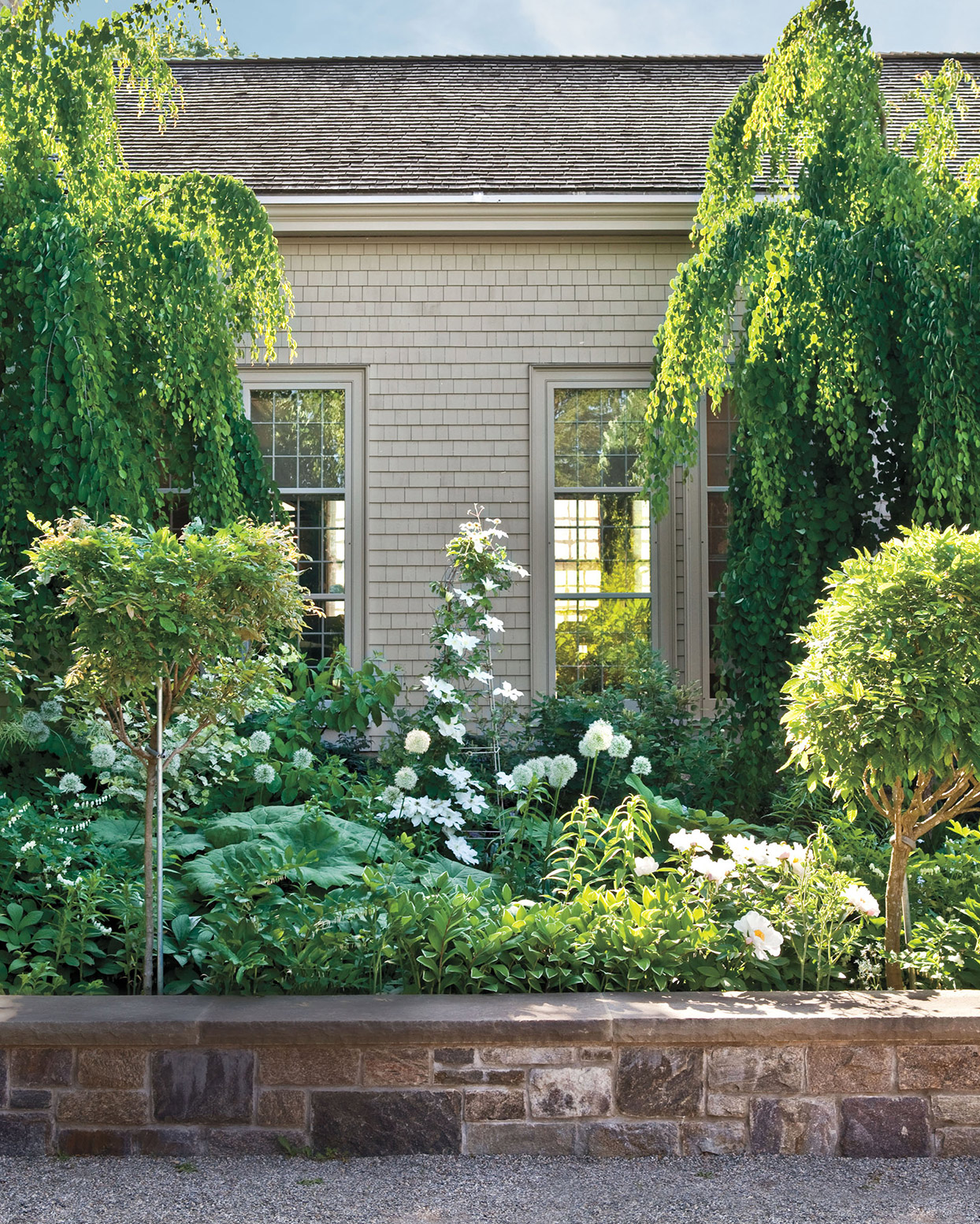 lush green plants and landscaping at bedford