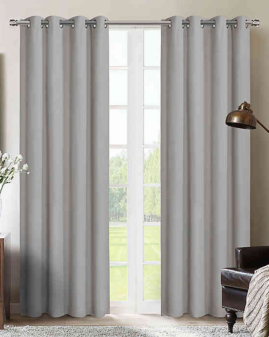 therapedic nantes 100 percent blackout grommet window curtain panel