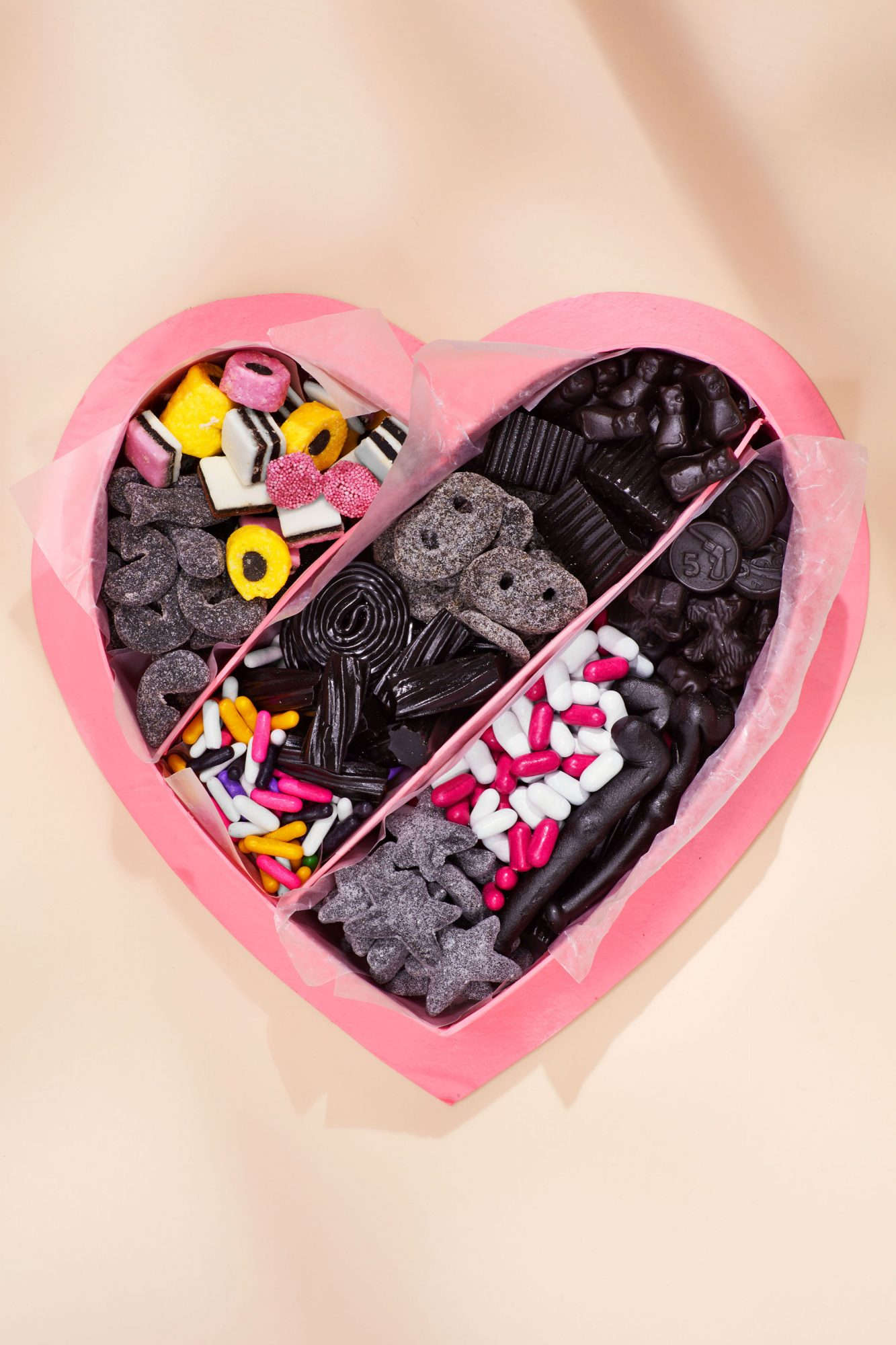 candy assortment personalized heart box