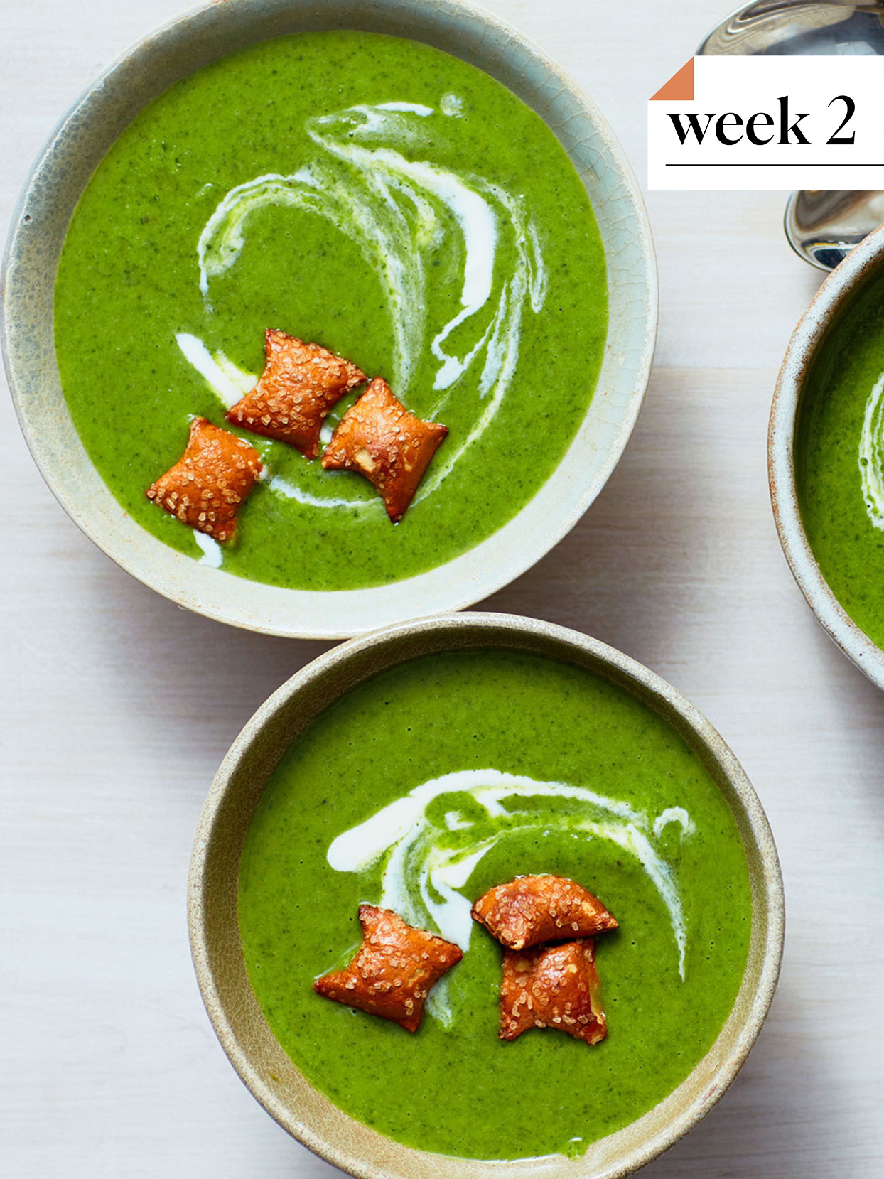 Creamy Broccoli-and-Spinach Soup
