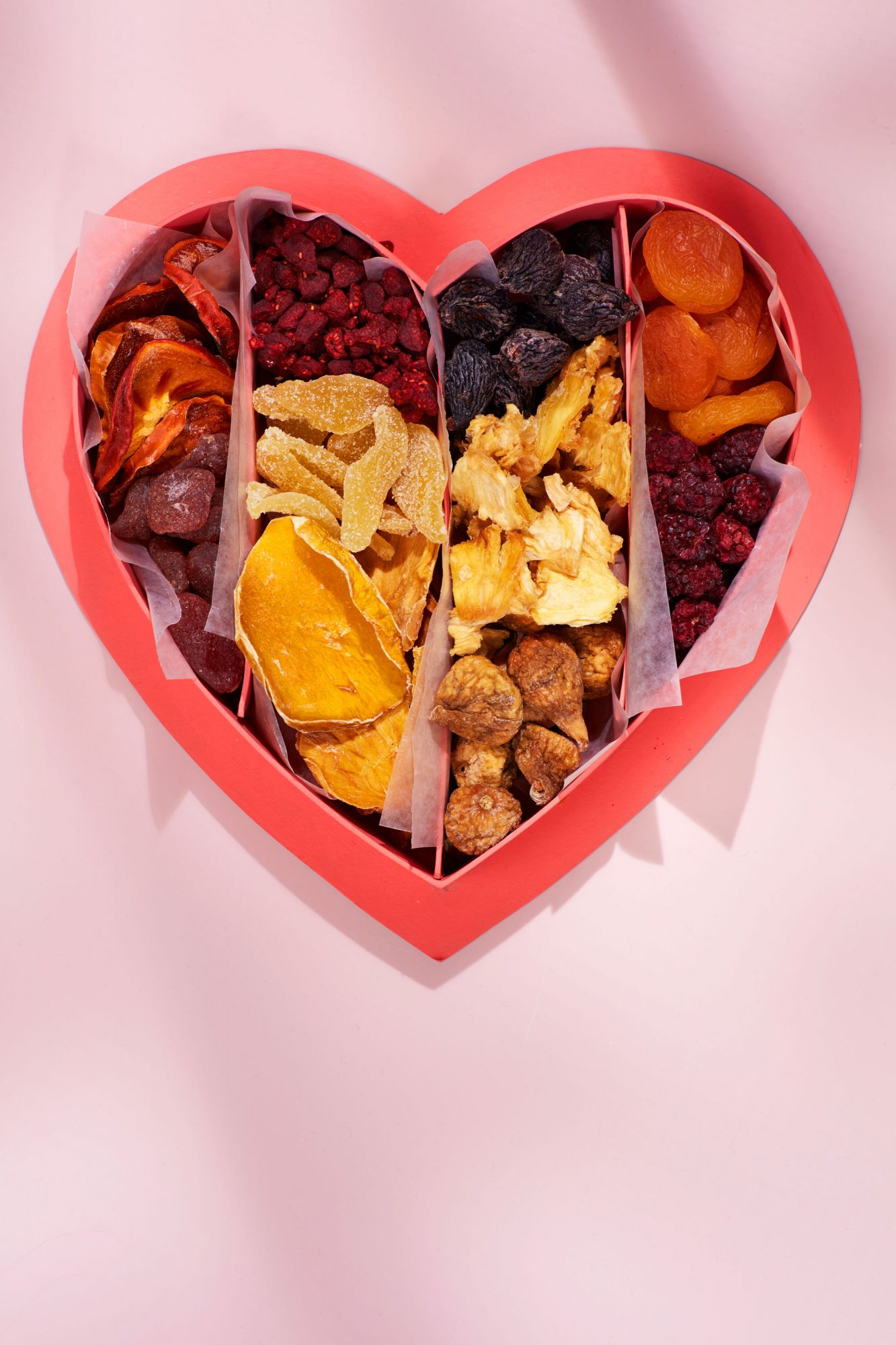 dried snacks personalized heart box