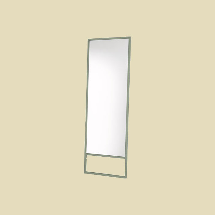 sage green leaning mirror