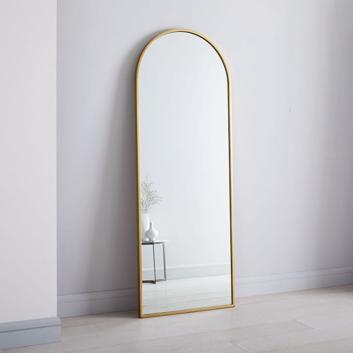 arched mirror with gold frame