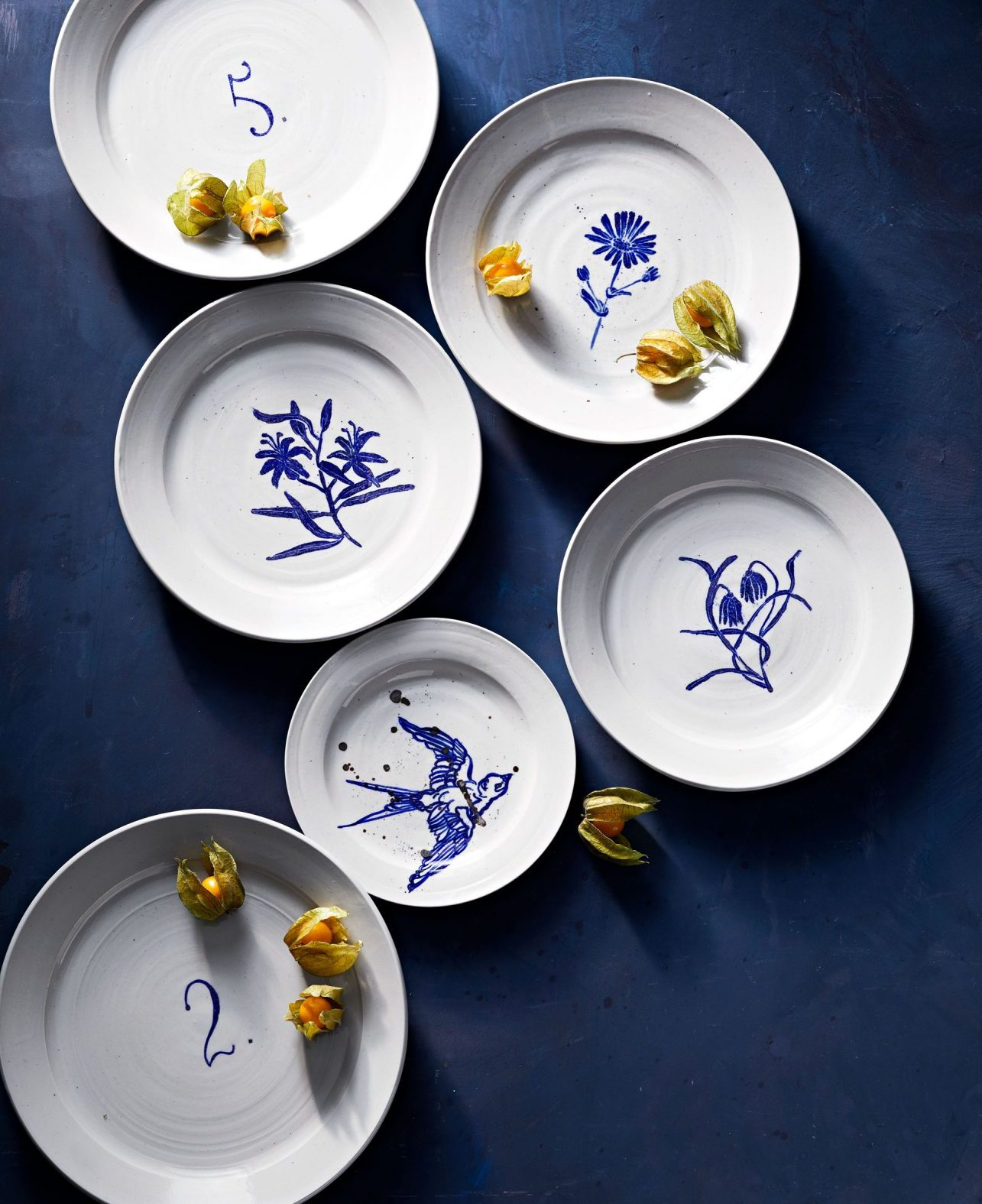 MG by Hand porcelain plates