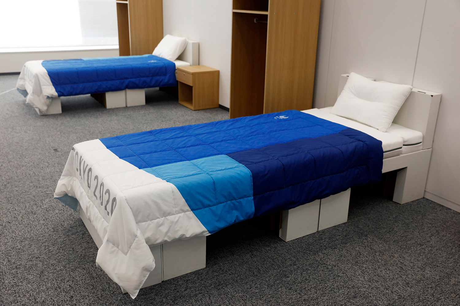 beds at the Tokyo 2020 Olympic and Paralympic Villages view 2