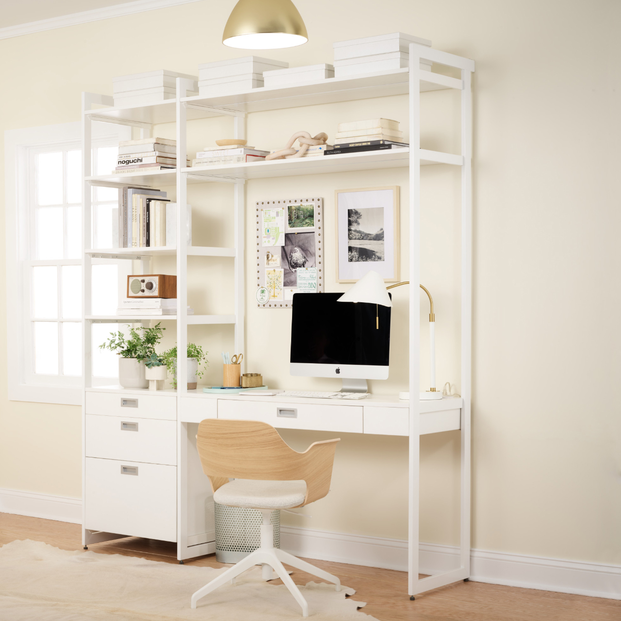 neutral colored home office