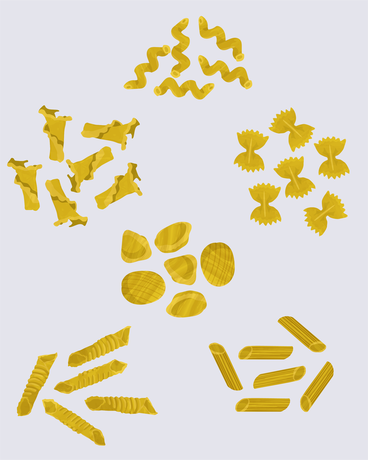 Our Illustrated Guide to Pasta Shapes, from Calamarata to Ziti