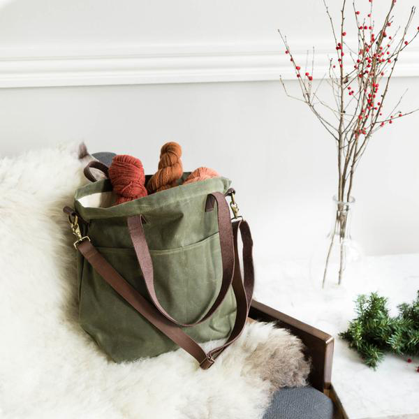 Twig and Horn Waxed Canvas Crossbody Tote