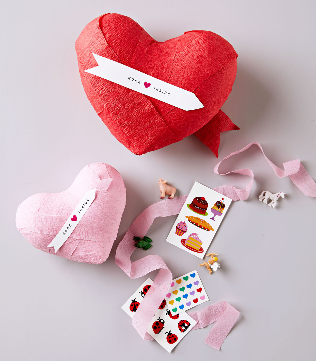 diy surprise filled heart valentines day craft