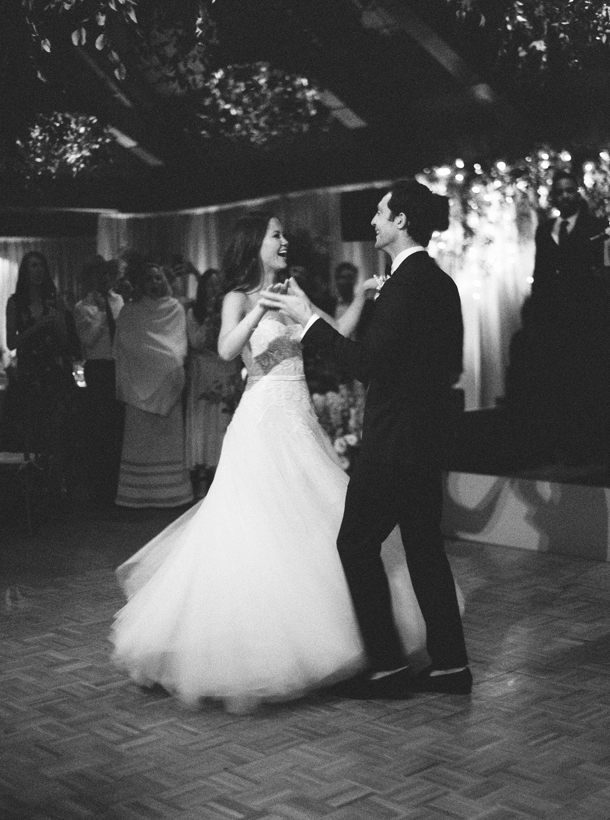 kimmie mike wedding first dance smiling and twirling