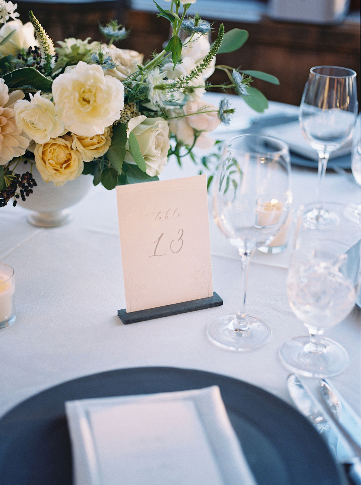 kimmie mike wedding reception simple table numbers