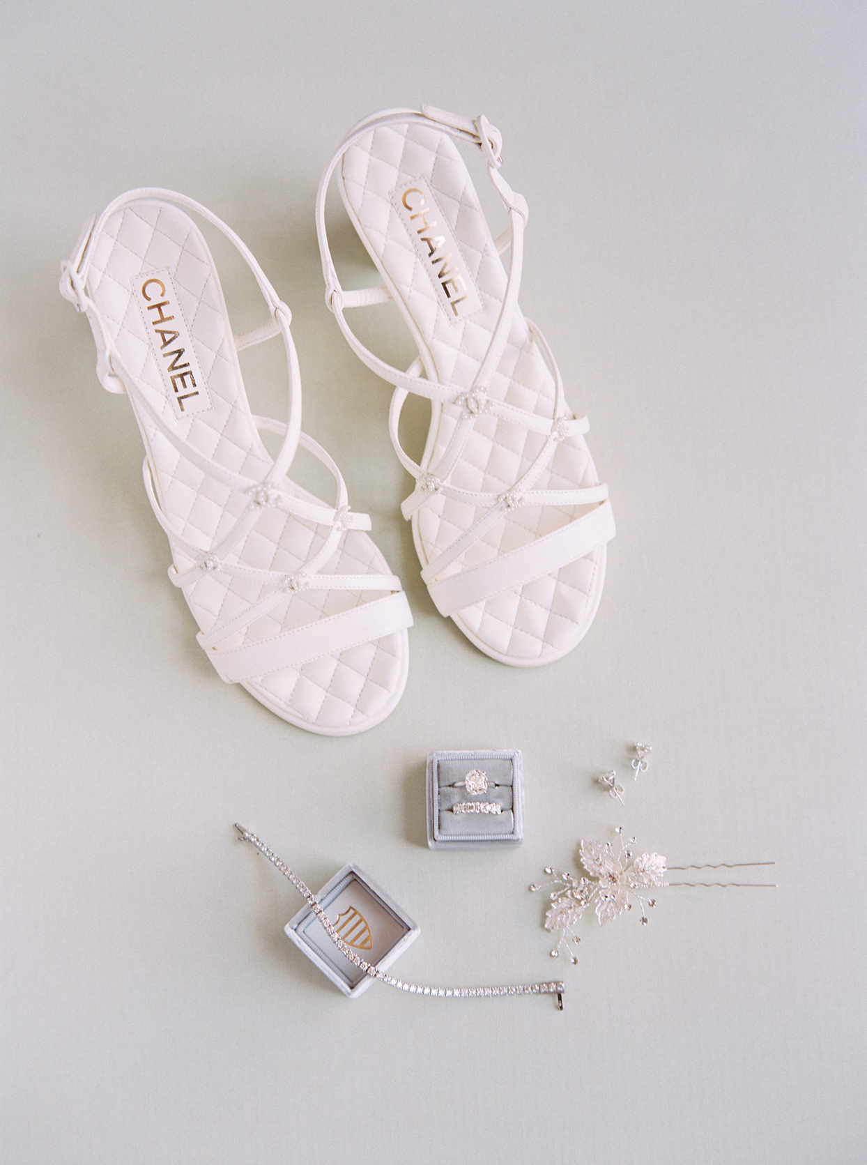 kimmie mike wedding bride's shoes and jewelry