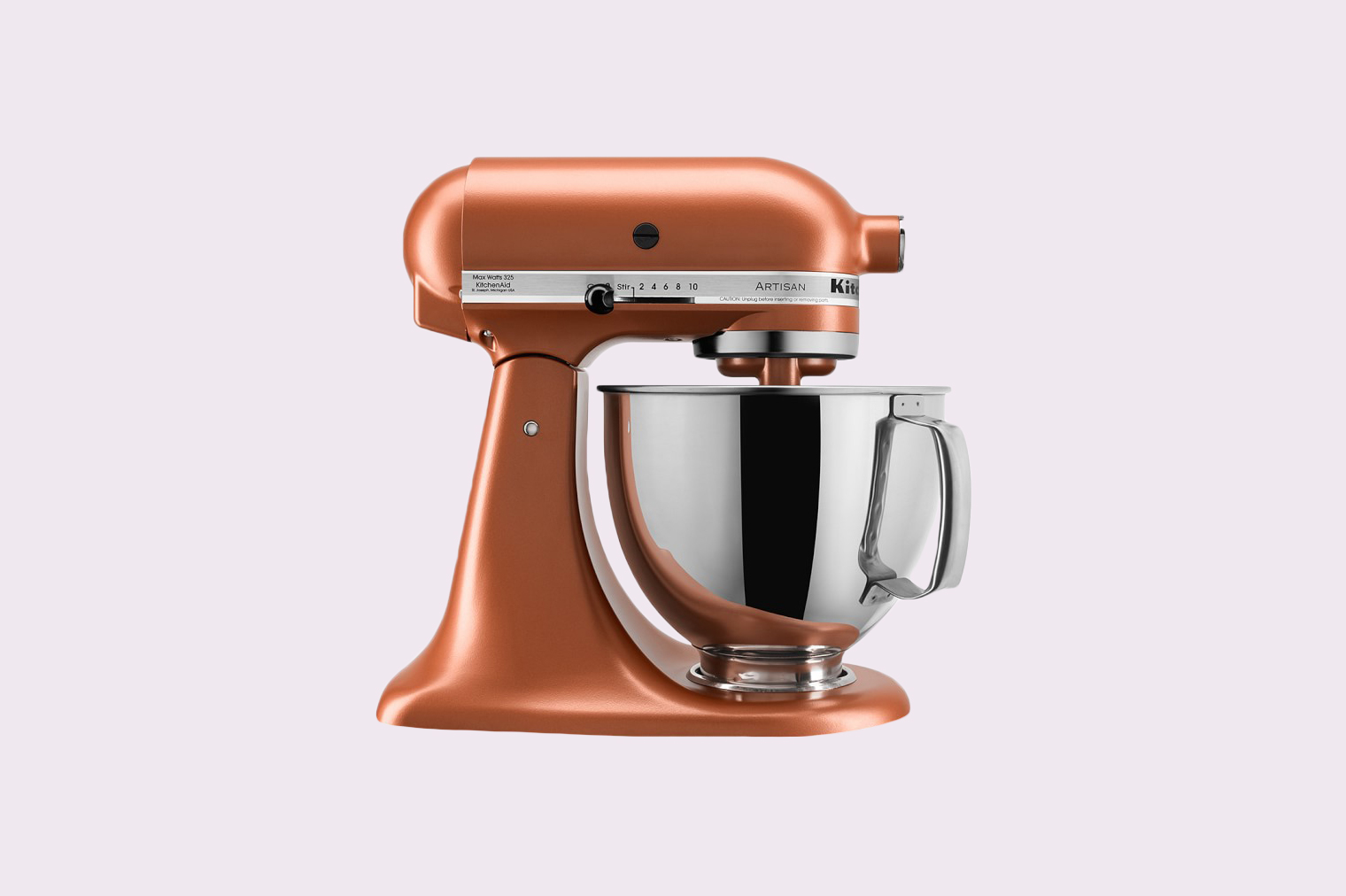 KitchenAid Artisan Stand Mixer in Copper Pearl