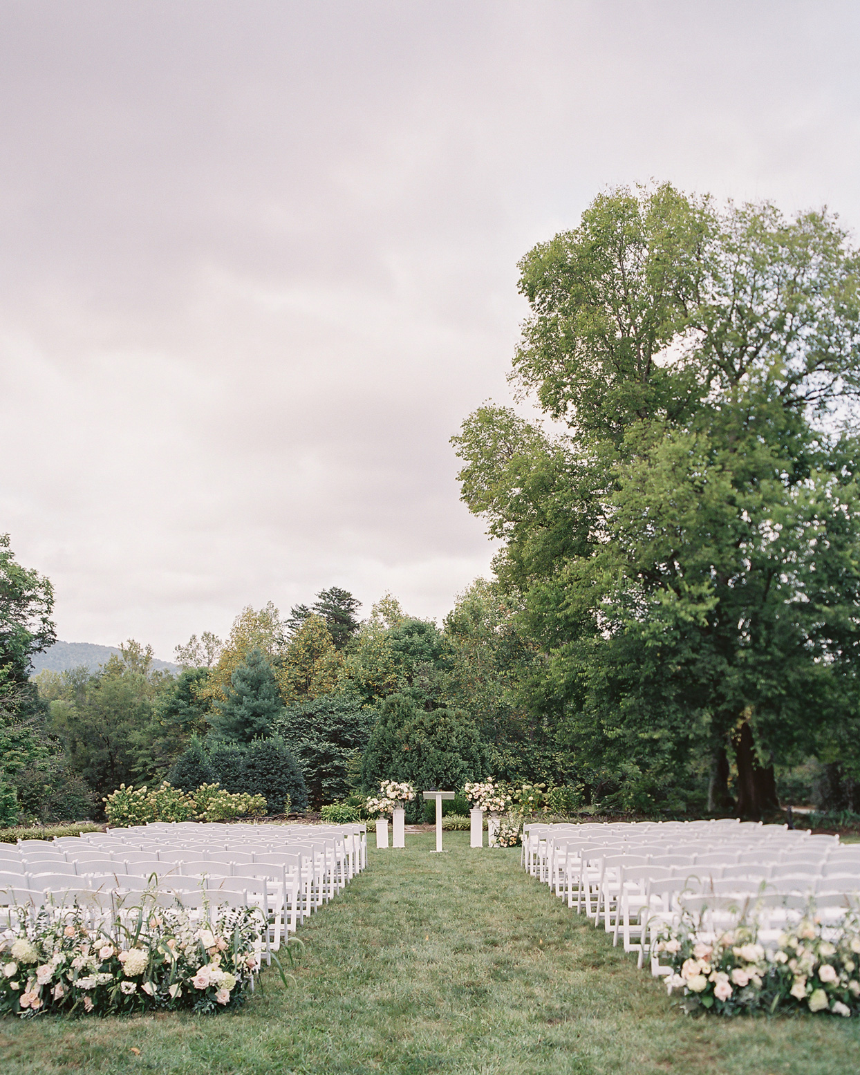Wedding ceremony in the Blue Ridge Mountains