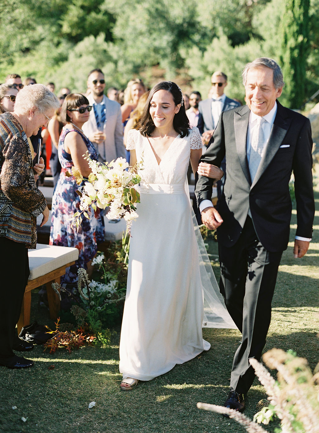 becca joey wedding bride father processional