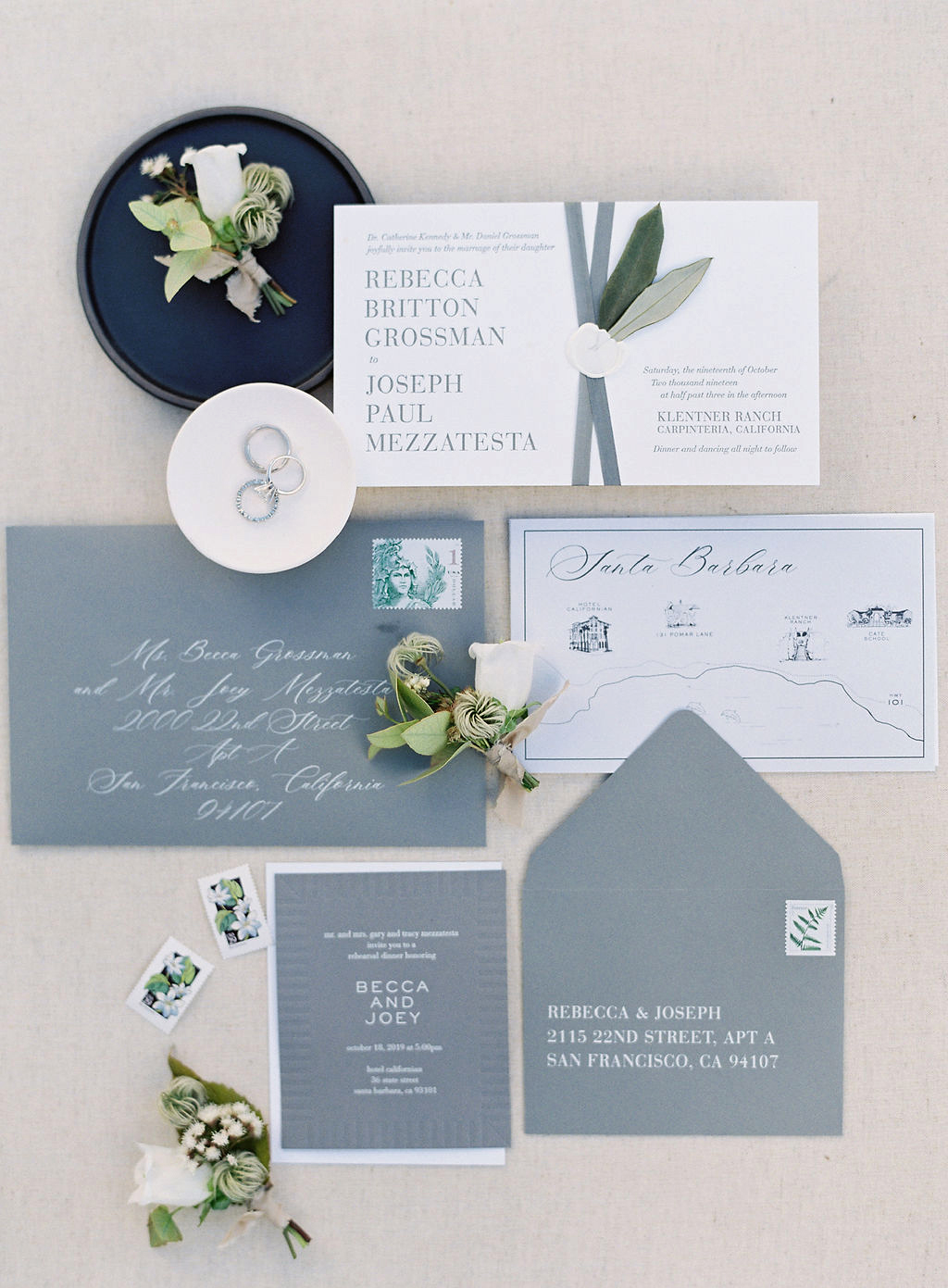 becca joey wedding invites stationery