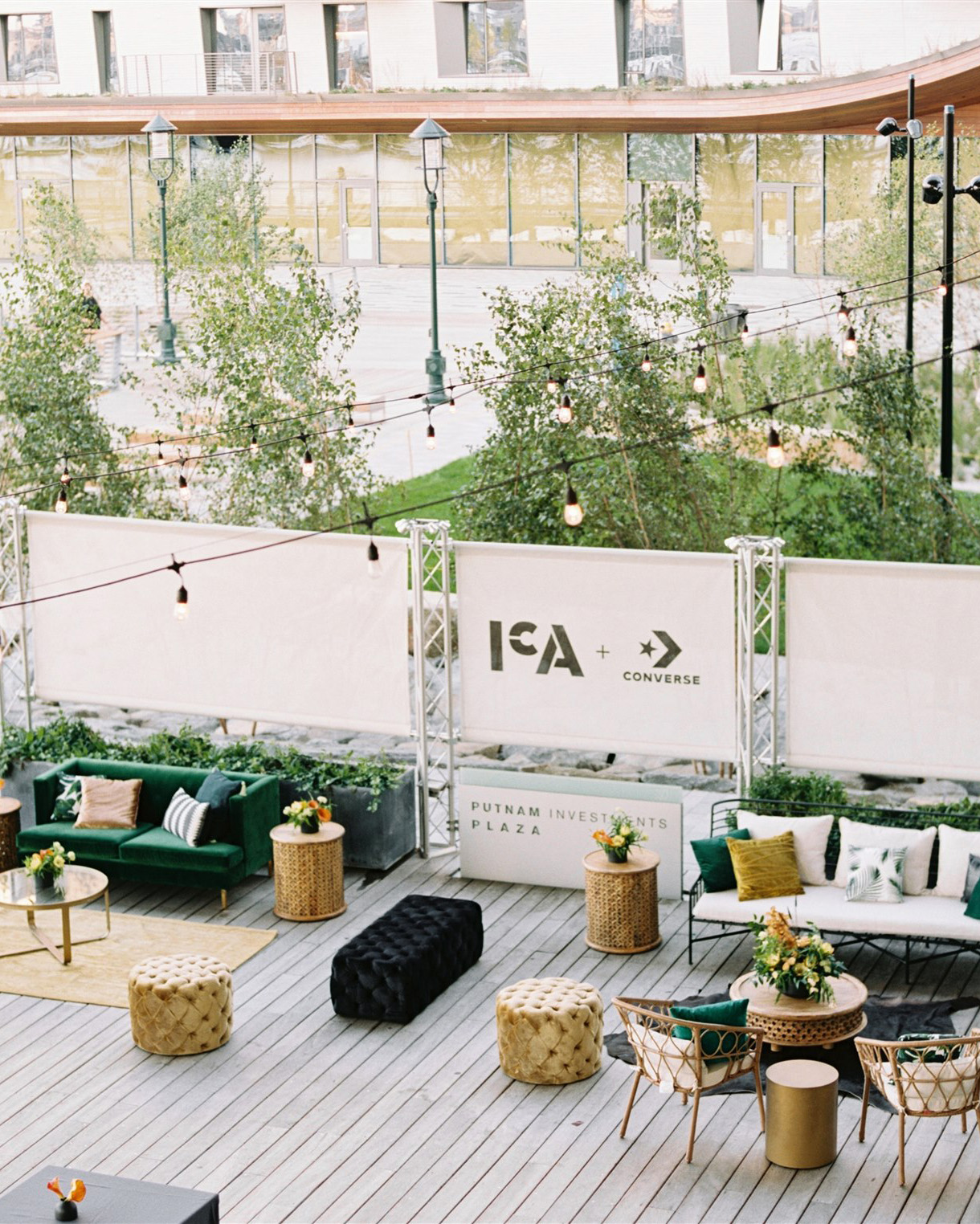 outdoor wedding lounge couches tables and chairs
