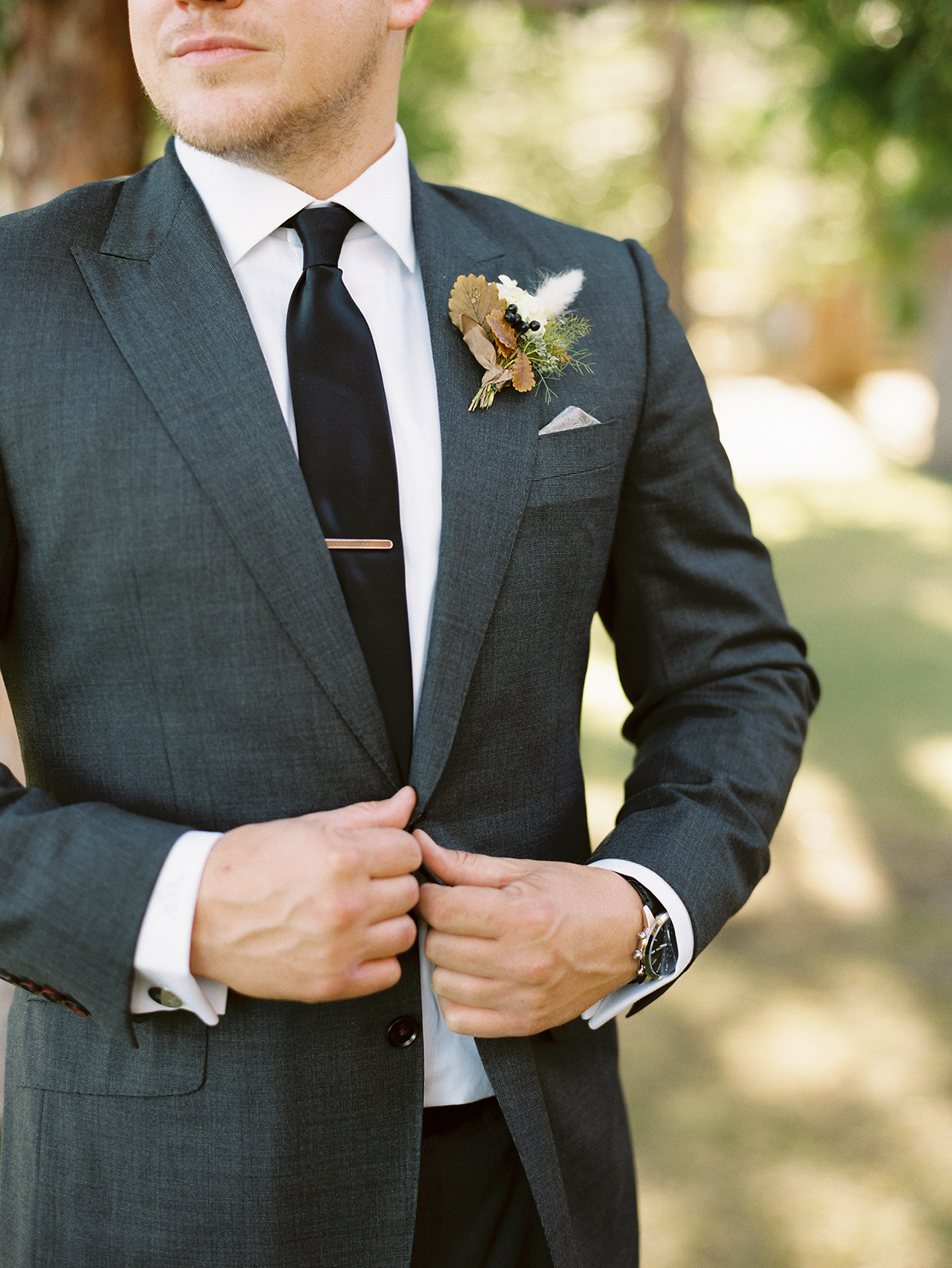 alexandra david wedding groom in dark gray suit