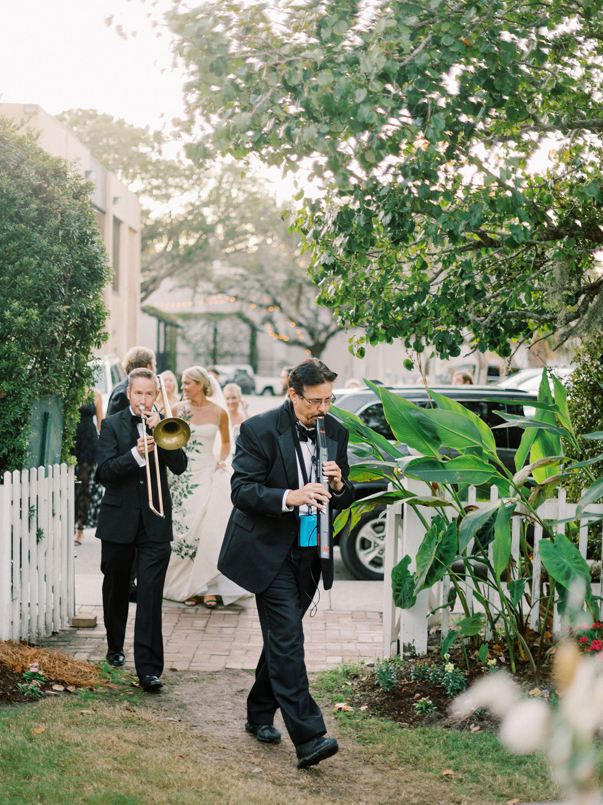 megan parking wedding second line musical performers