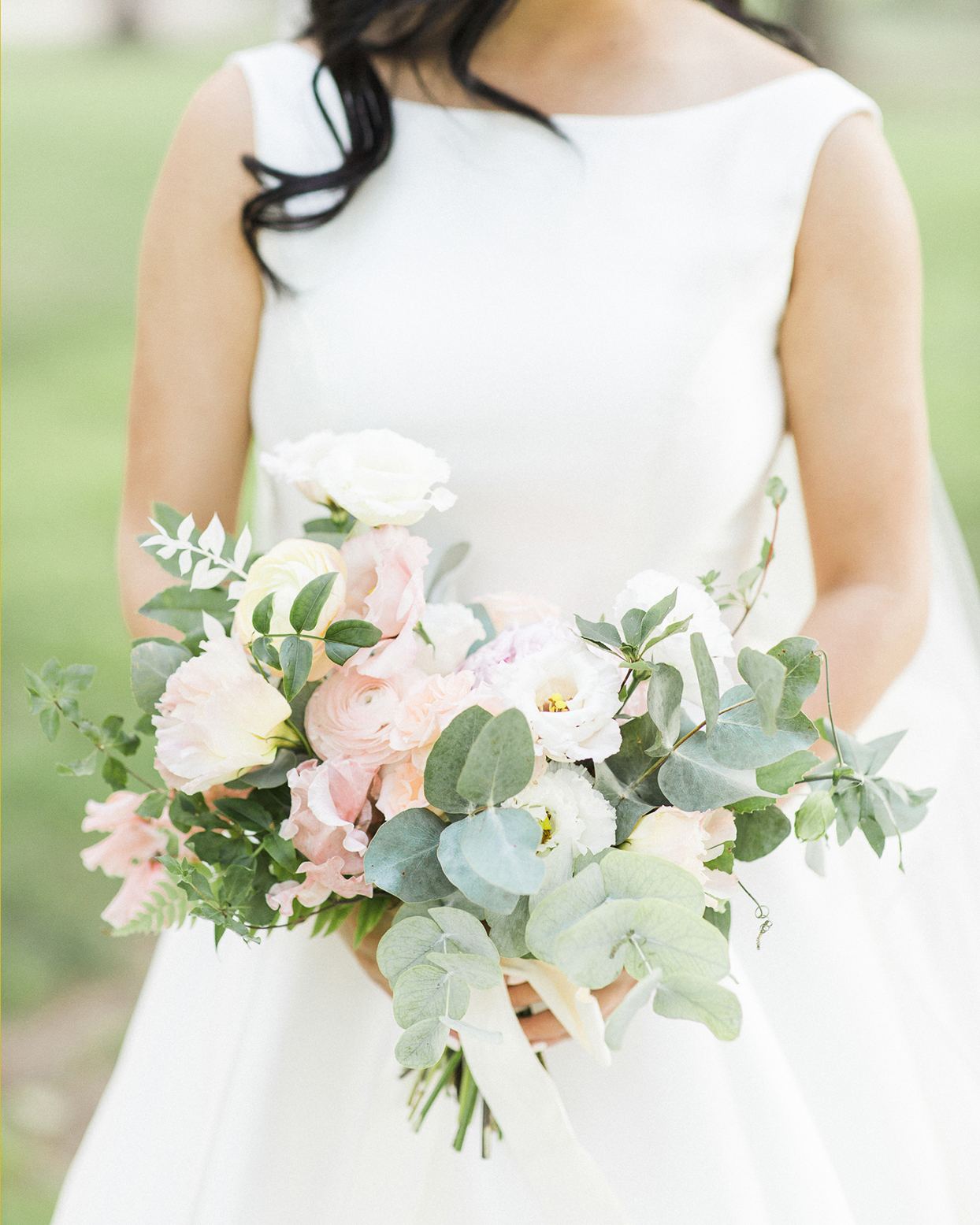 grace john bride's pastel wedding bouquet