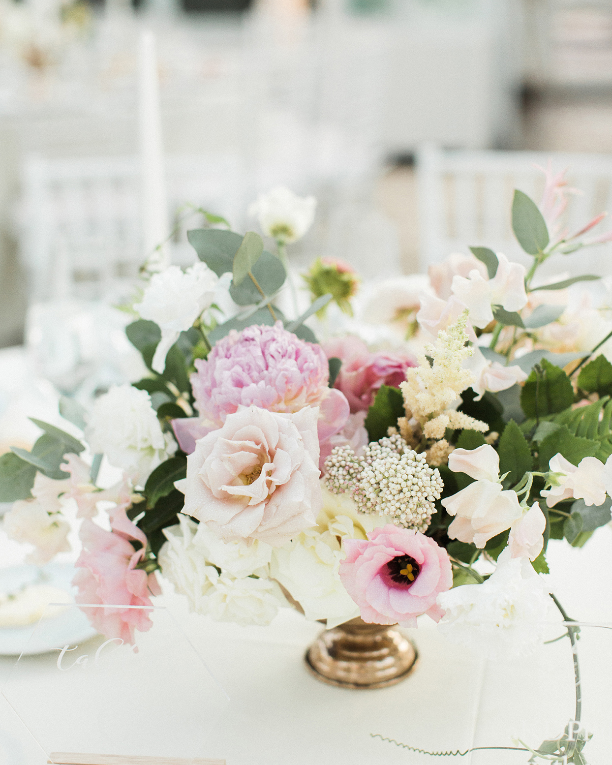 grace john wedding pastel floral centerpieces